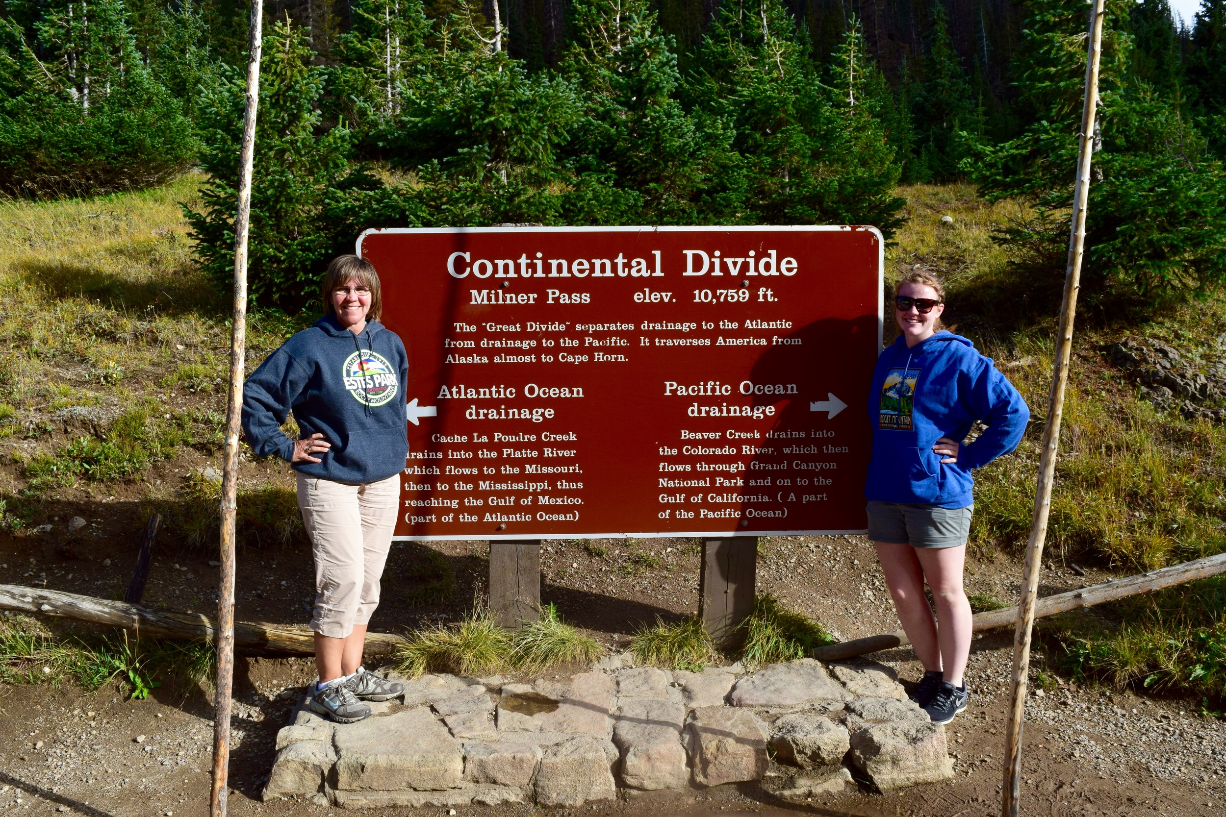 Impromptu stop at the continental divide!
