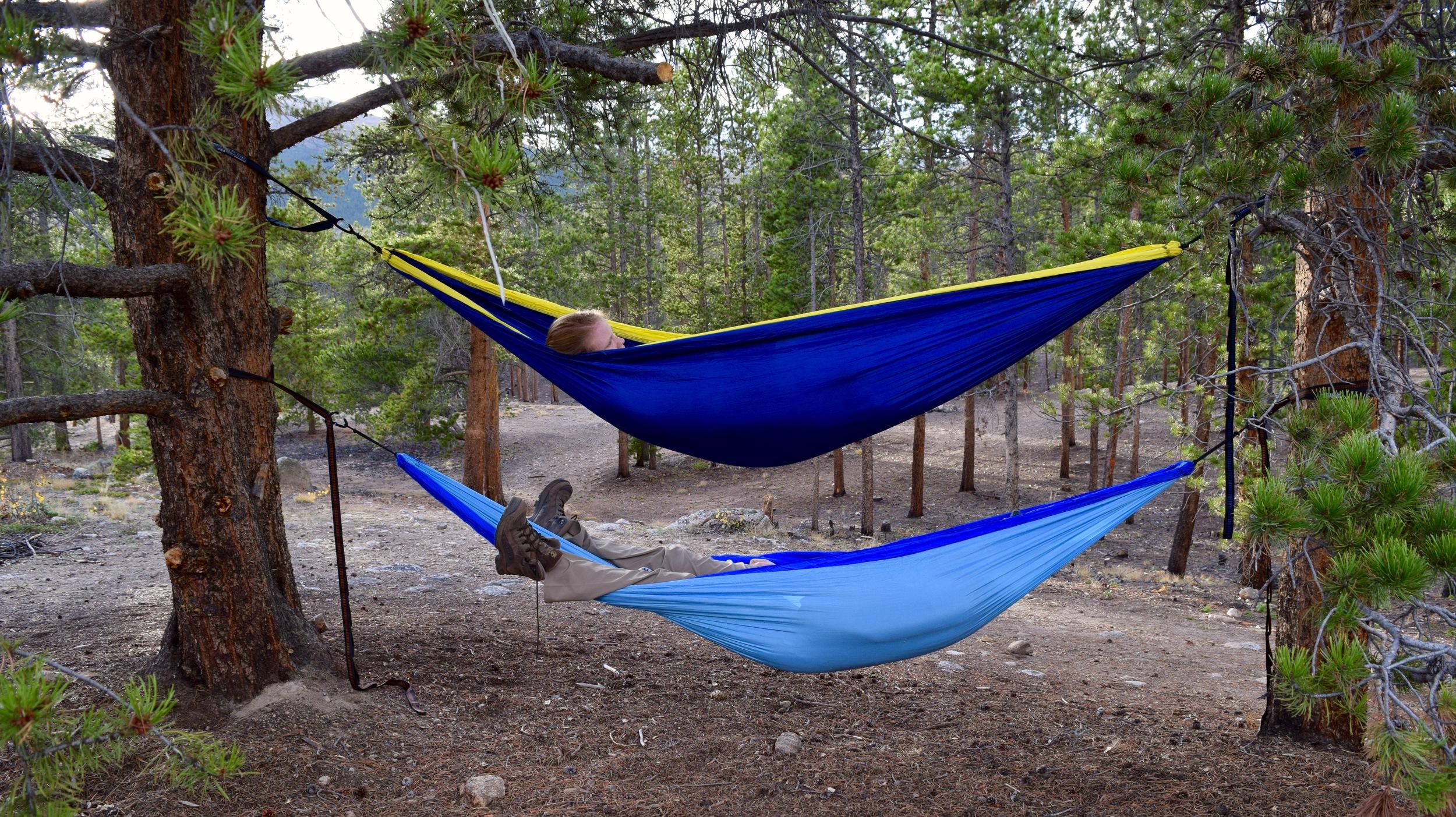 Bunkbed hammocks. Best way to hammock.