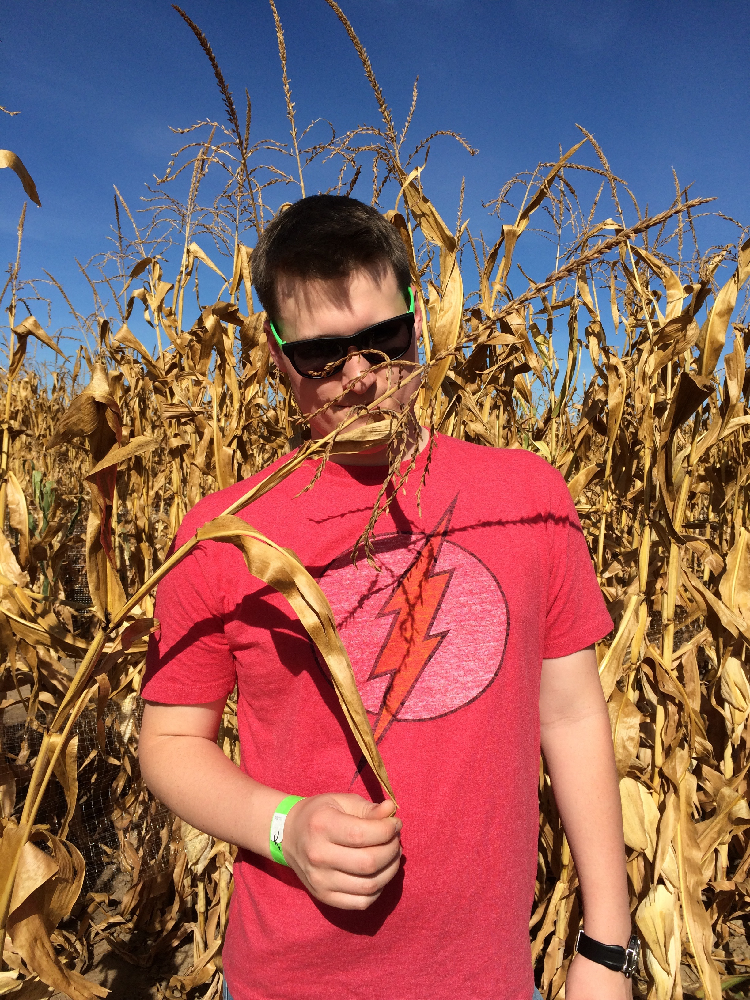 Hanging out at Fritzler's Corn Maze