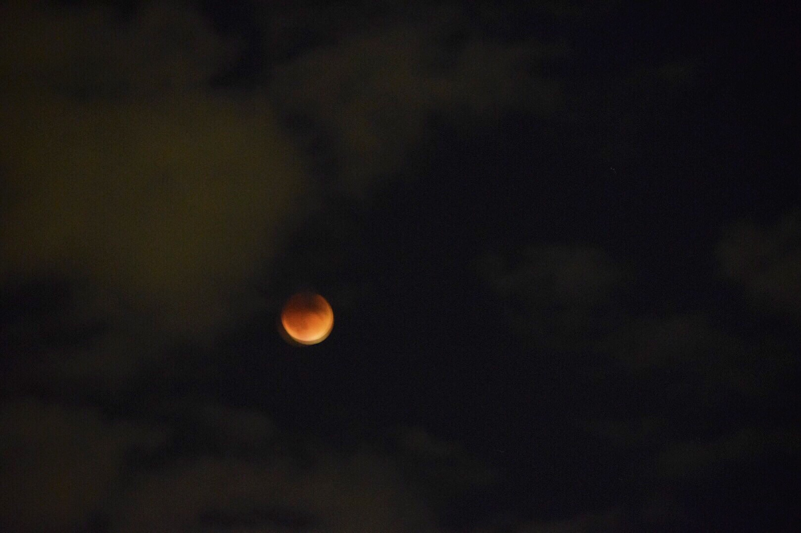 Lunar Eclipse view from our apartment - I cheated, this isn't an iphone photo. But its cool