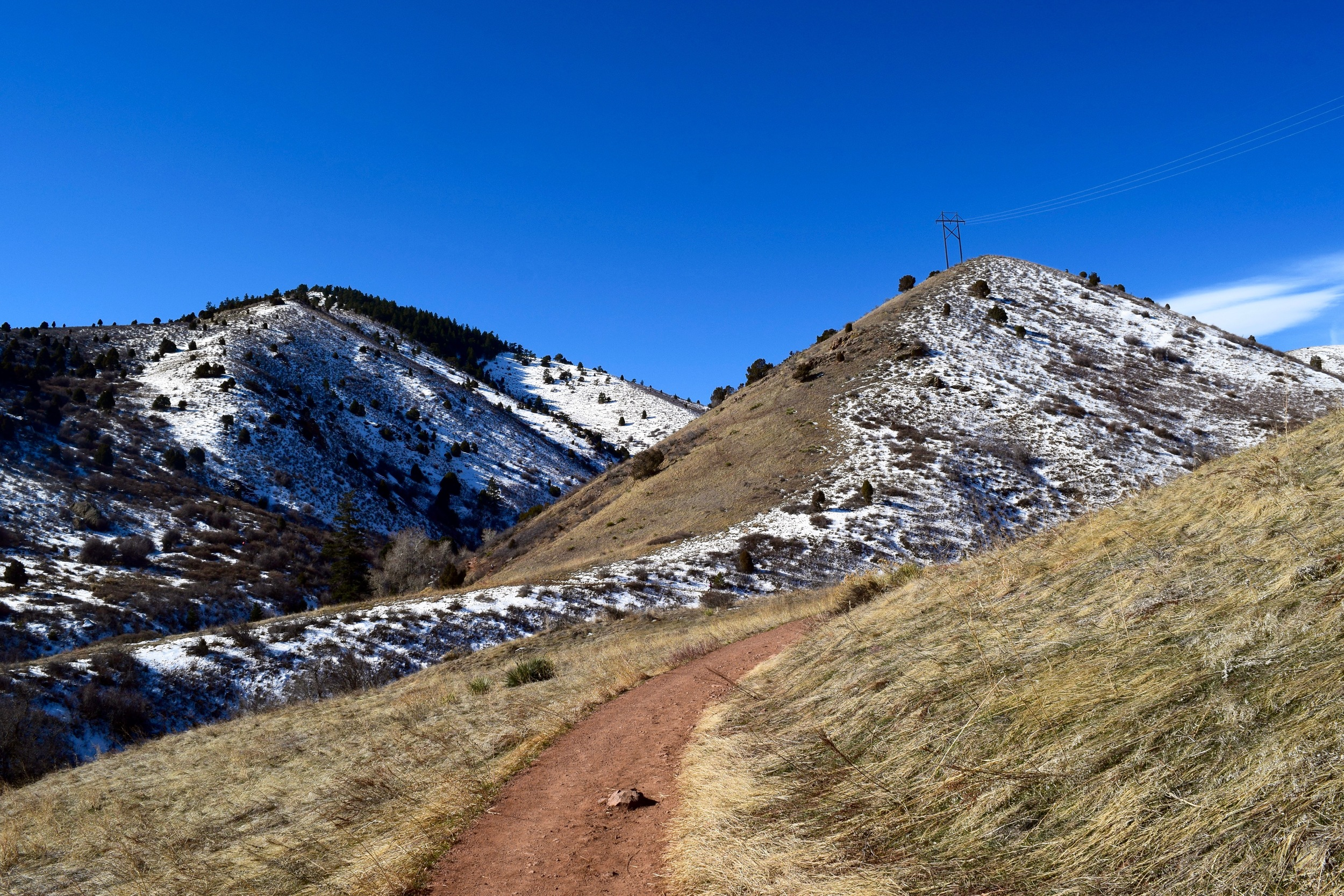 The north sides of all the mountains were covered in snow making walking a challenge