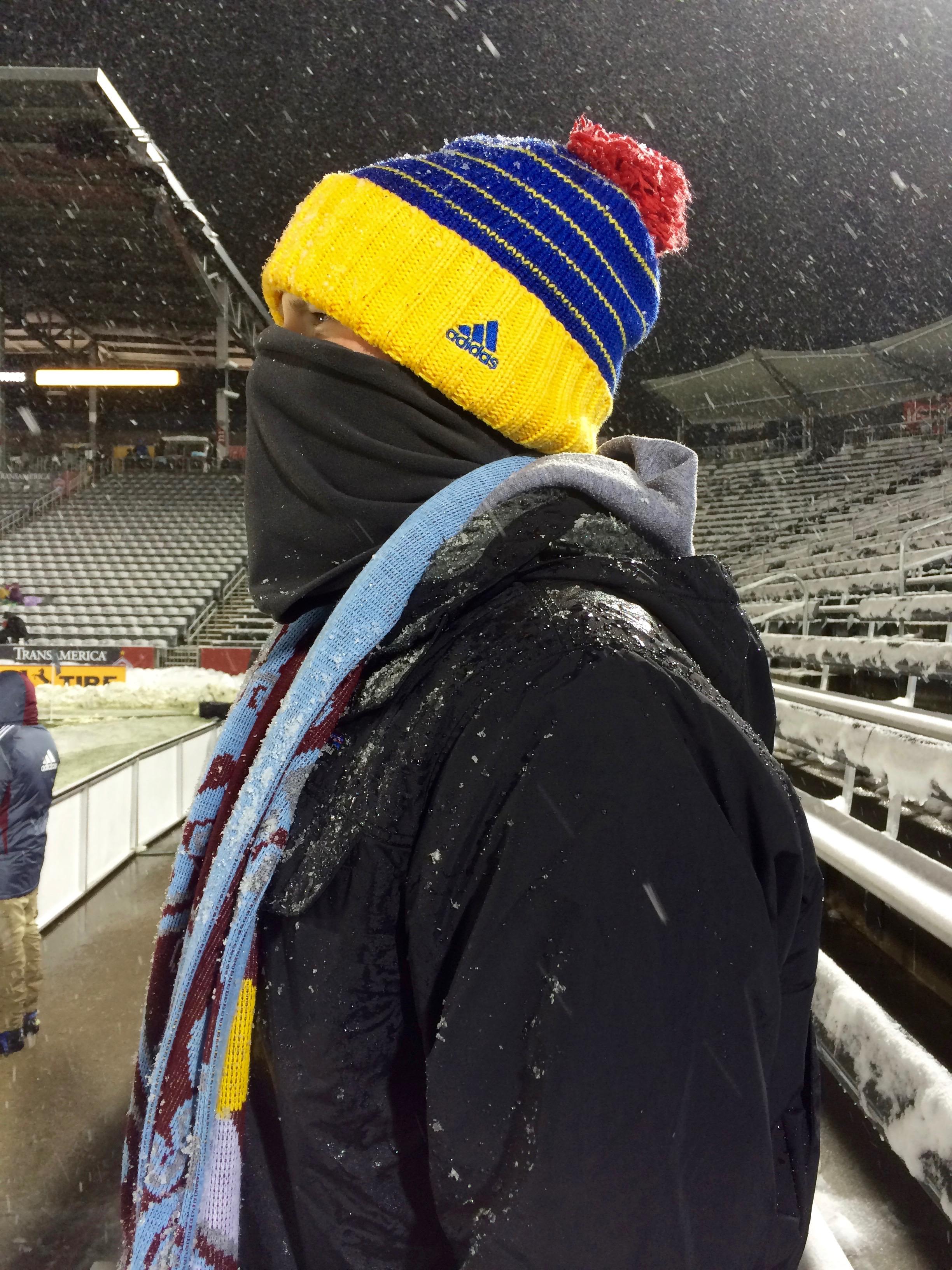 It was cold. Super cold.