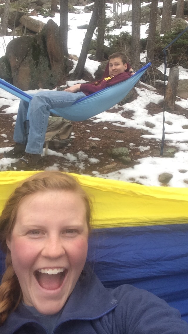 We've spent a lot of time hammocking because the weather is finally reliably warm