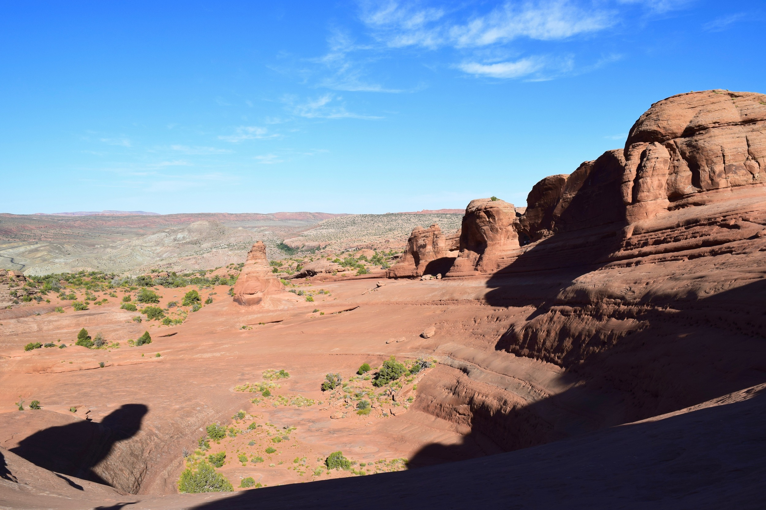 The second rock from the left (the smaller one in the background that you probably wont be able to pick out unless you made the same mistake) is the one Logan and I climbed up on to then realize we were wrong.
