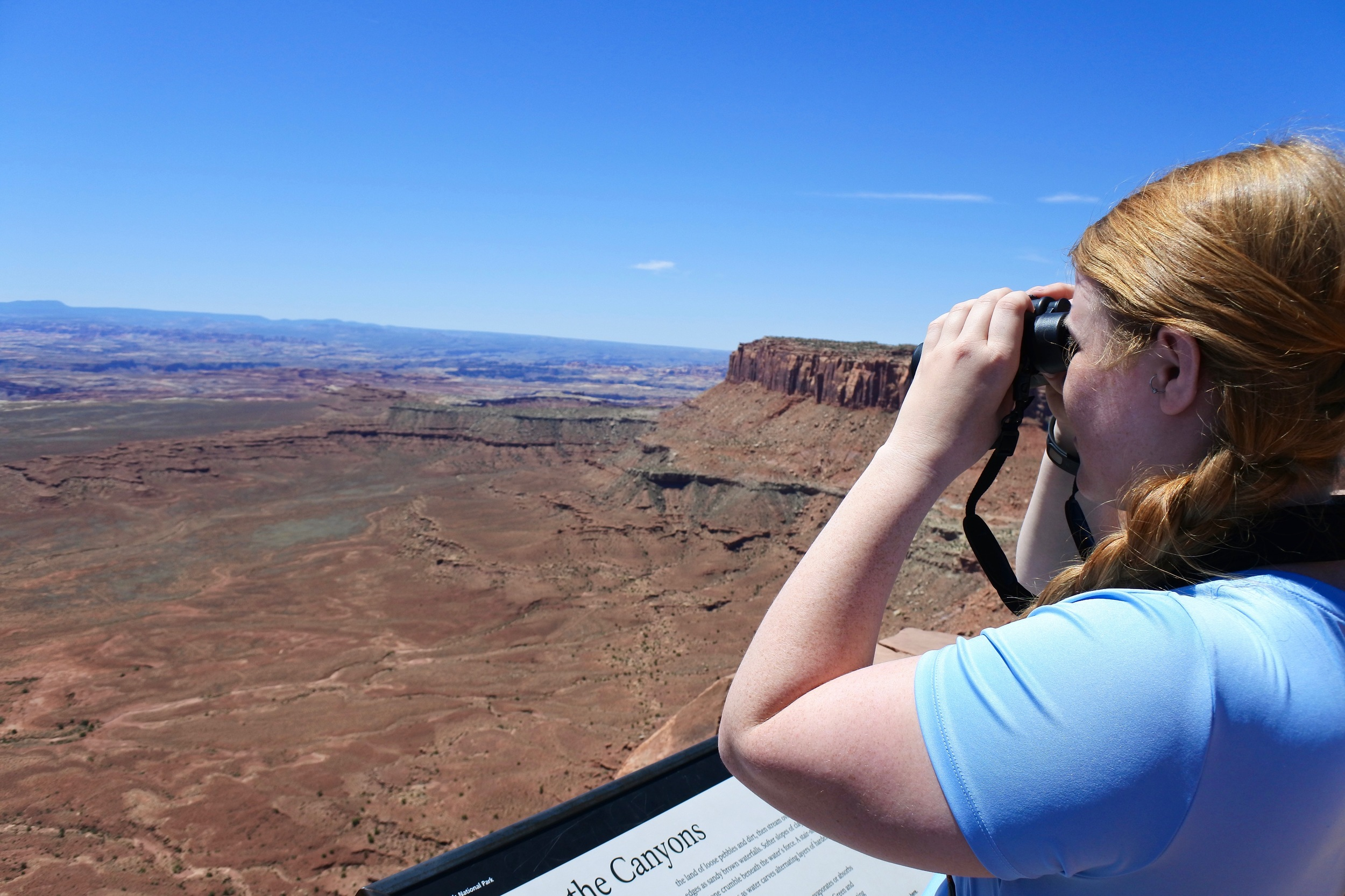 For my birthday, mom and dad got me some AMAZING binoculars - it was awesome to see the canyons up close and in such detail.