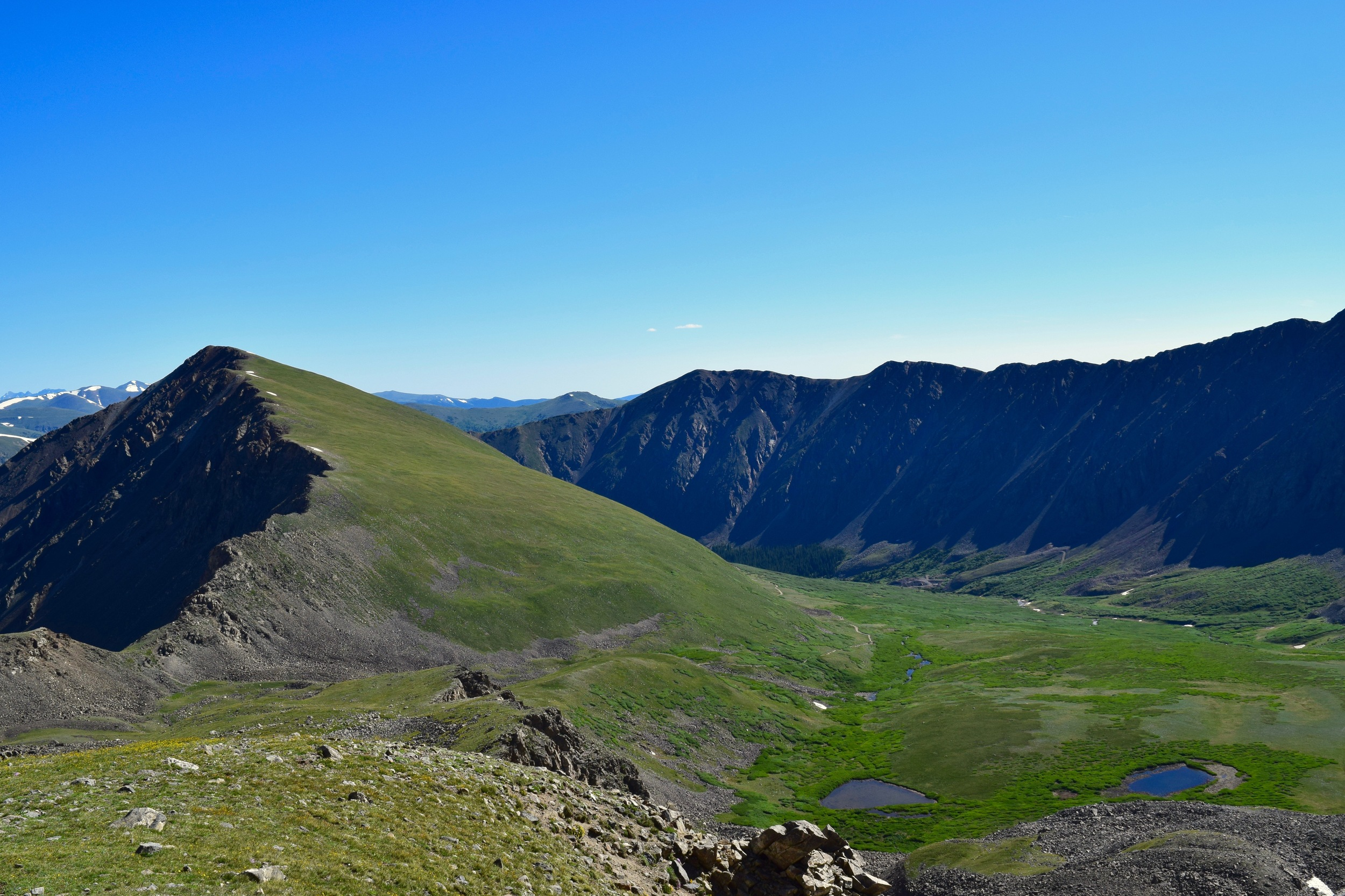 Looking East off of the trail up Grays Peak