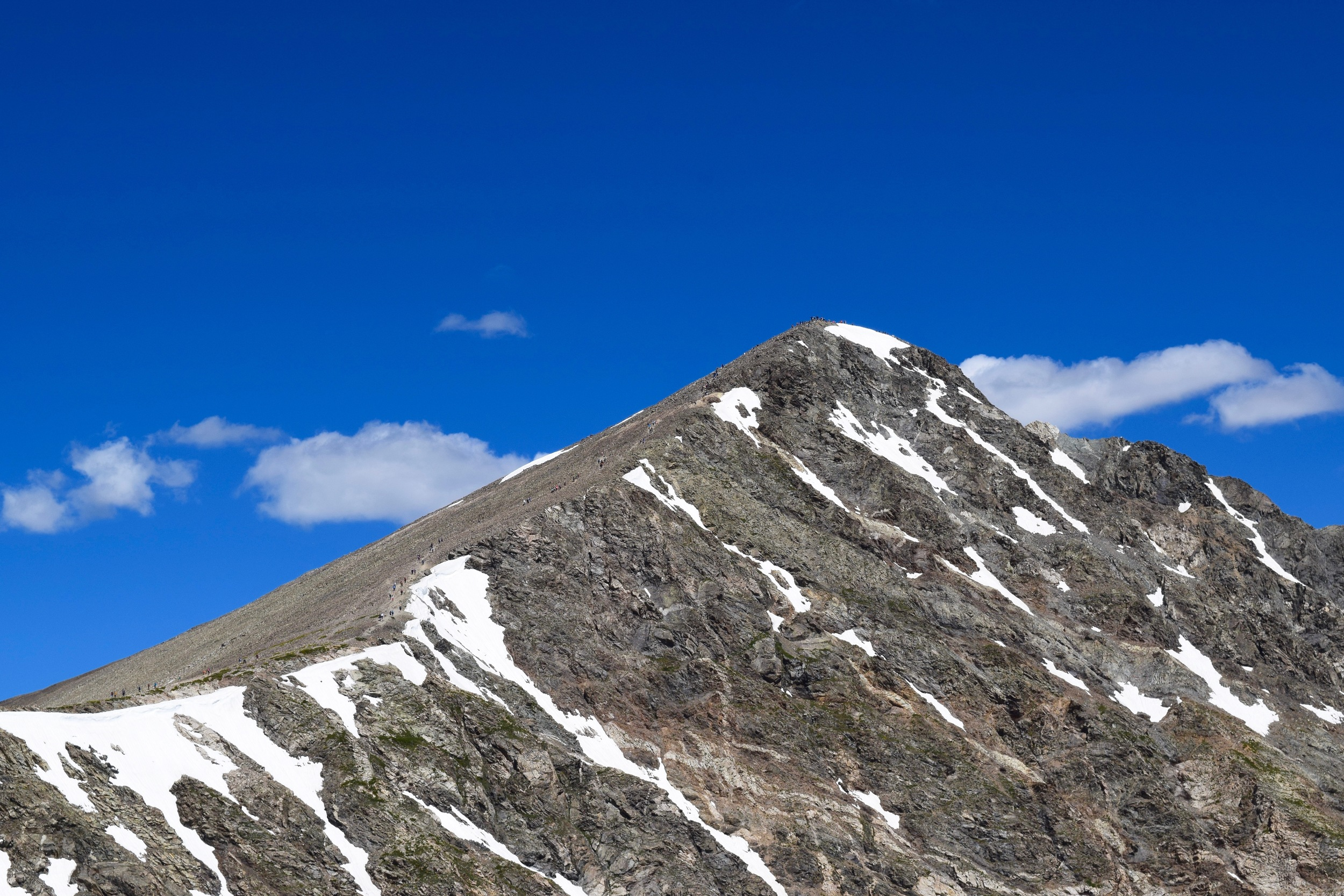 Torreys Peak. You can see little people on the trail and on the summit if you click the picture!