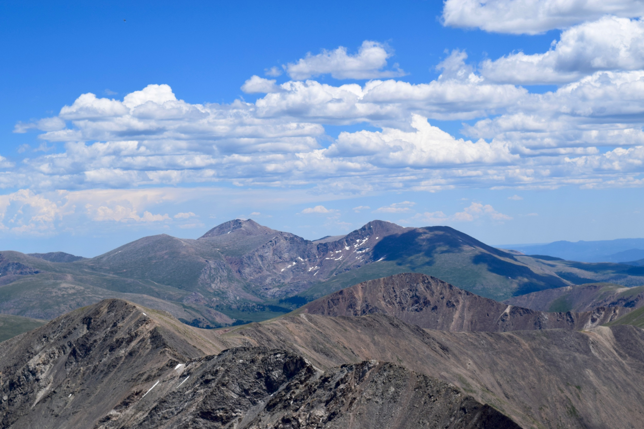 Mt. Bierstadt and Mt. Evans to the east. I remember standing on top of Bierstadt looking at Grays and Torreys so this was pretty cool.