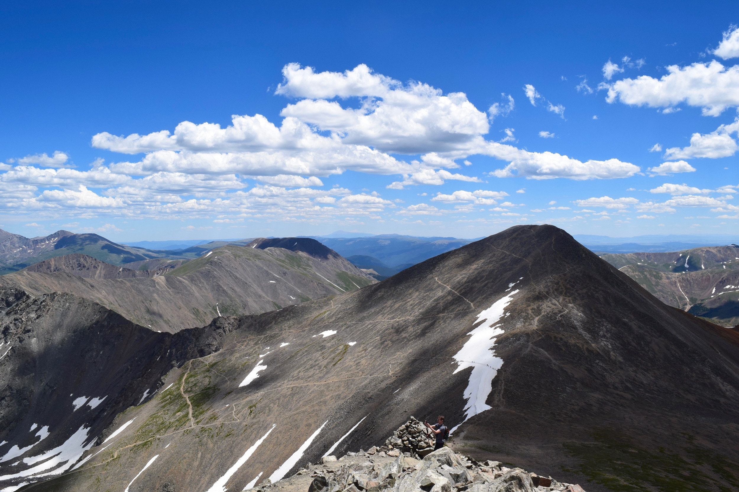 A shot of Grays Peak with the route pretty visible.