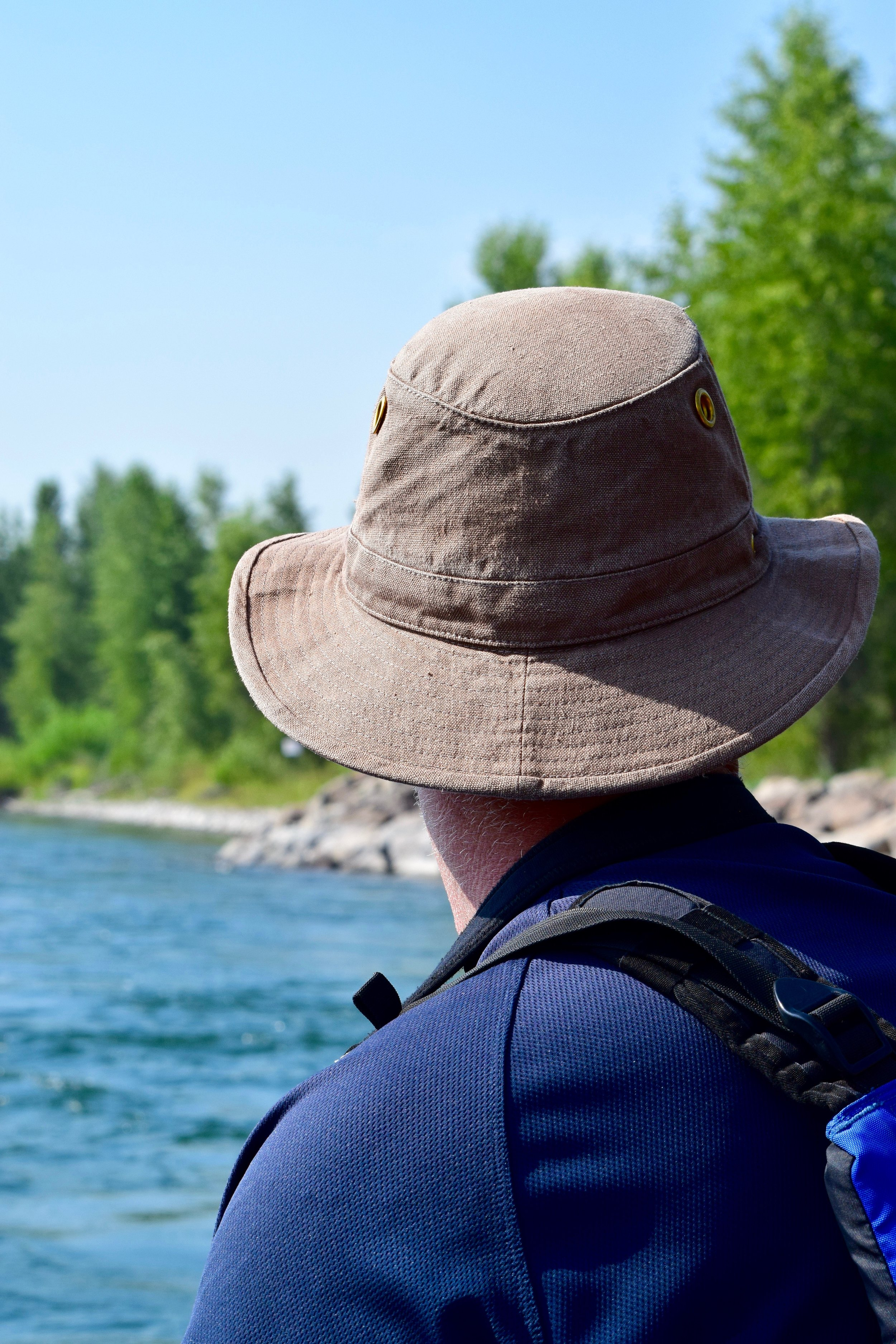 Dad in his adventure hat