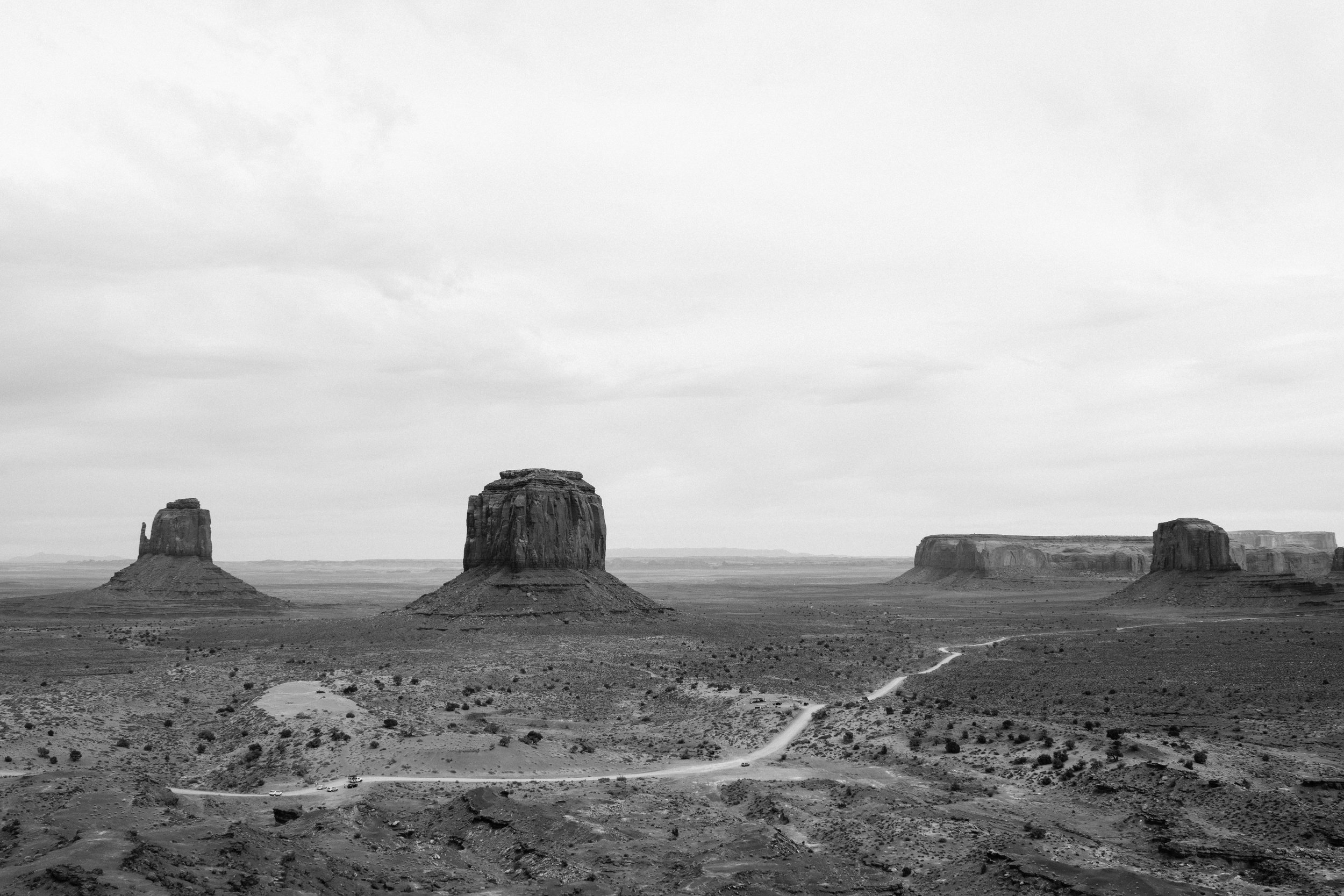 I never edit my pictures to black & white, but this landscape just begs for the drama that B&W brings.