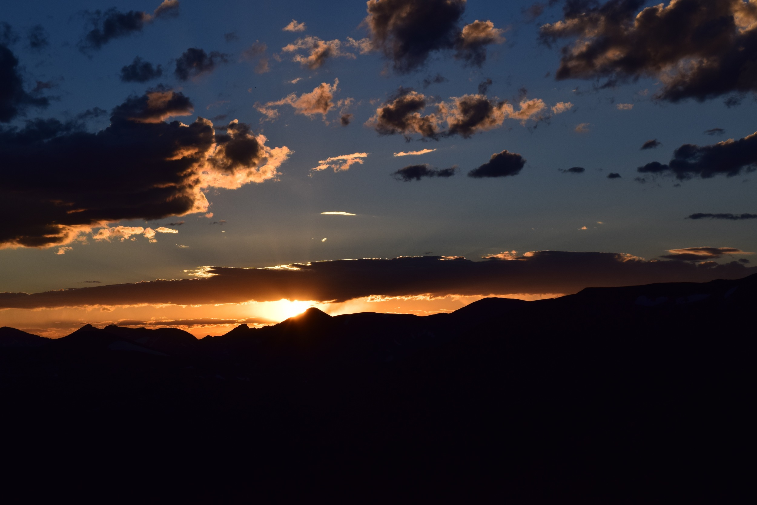 Sunset at Forest Canyon Overlook - taken the first weekend we lived in Colorado