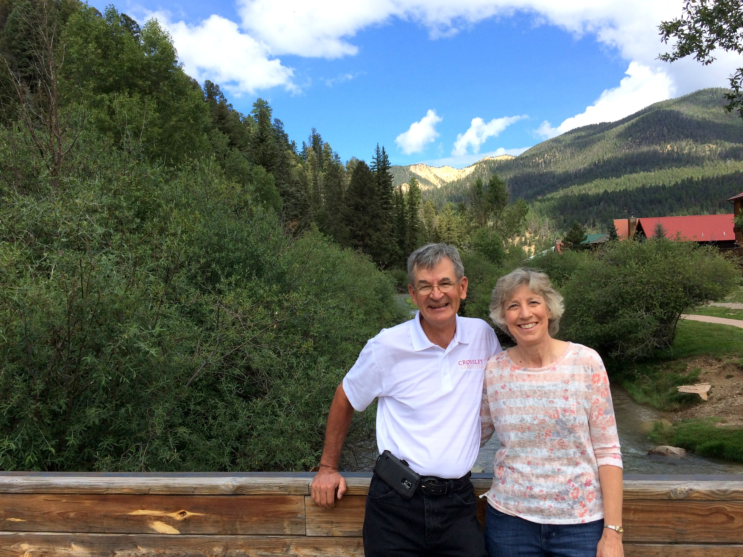 Lee and Margaret (Mom and Dad) in Taos at the 2015 Scheufler Family Reunion