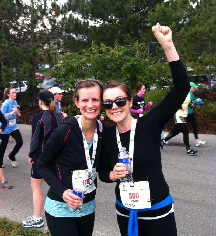 The Zoo Run in Kansas City, 2013 - the first time I ever ran four miles! All thanks to the encouragement of that amazing lady, my dear friend Kristen, standing beside me. <3