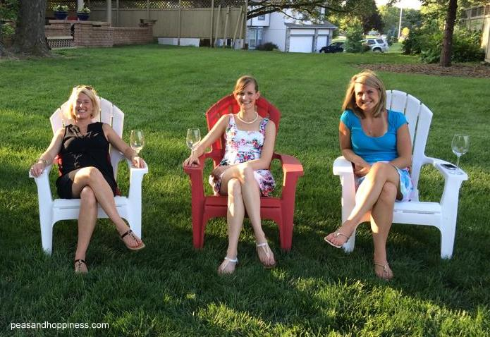 Work friends, wine, and beautiful weather- Kerstin, myself, and Emily