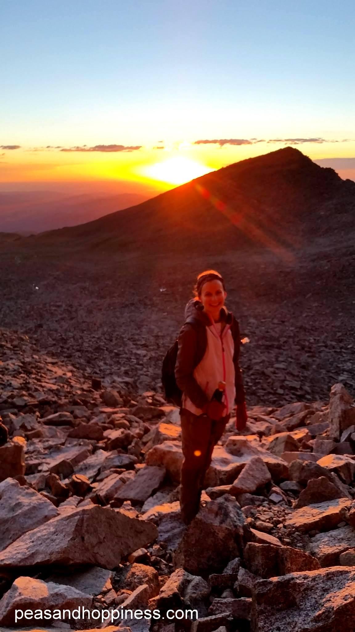 Sunrise on Long's Peak - the hardest mountain I've yet climbed