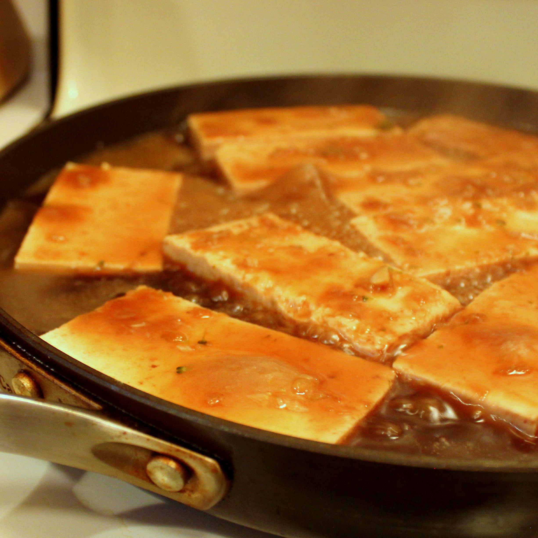 Try this  Teriyaki Tofu with Stir-Fry Veggies