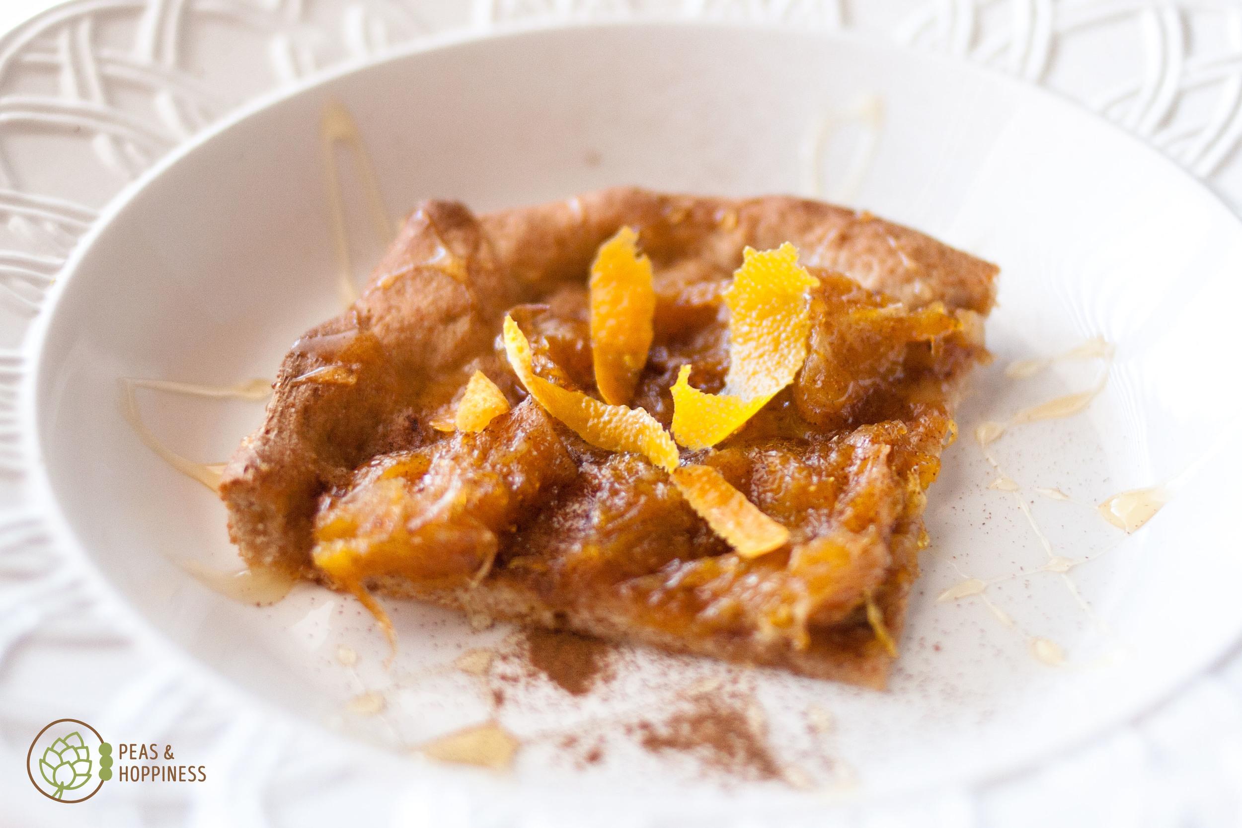 Orange marmalade dessert pizza