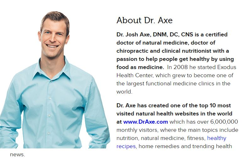 Website 2: As far as I can tell, Dr. Axe takes credit for writing all of the articles on his site. Doctors generally do not receive much nutrition education, so my question is: what's a clinical nutritionist? I have never heard of this, despite being knee-deep in the nutrition world for over six years. After quite a bit of digging, I found an explanation at  NurtritionSpecialists.org . Compare this to a Dietitian Registration and it's significantly less hours of nutrition-specific education.