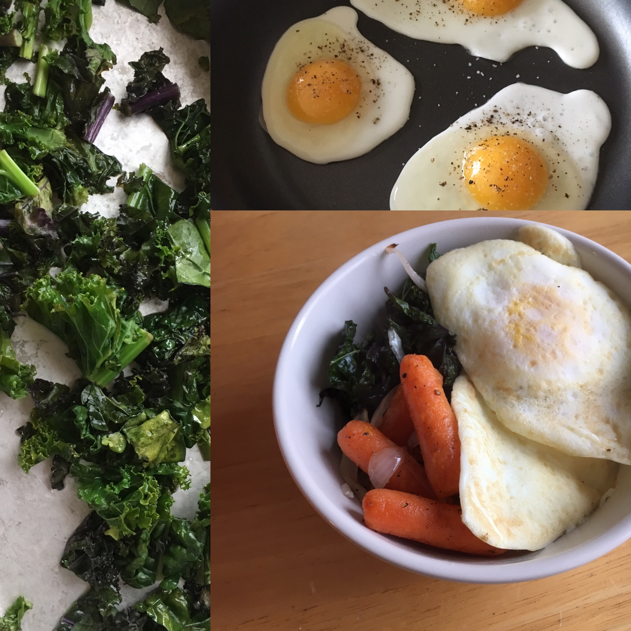 "A variation on  Brown Rice Bowls with Roasted Broccoli and Carrots  to fuel a winter hike. Spoiler alert: you don't have to eat ""breakfast food"" for breakfast if you don't want to!"