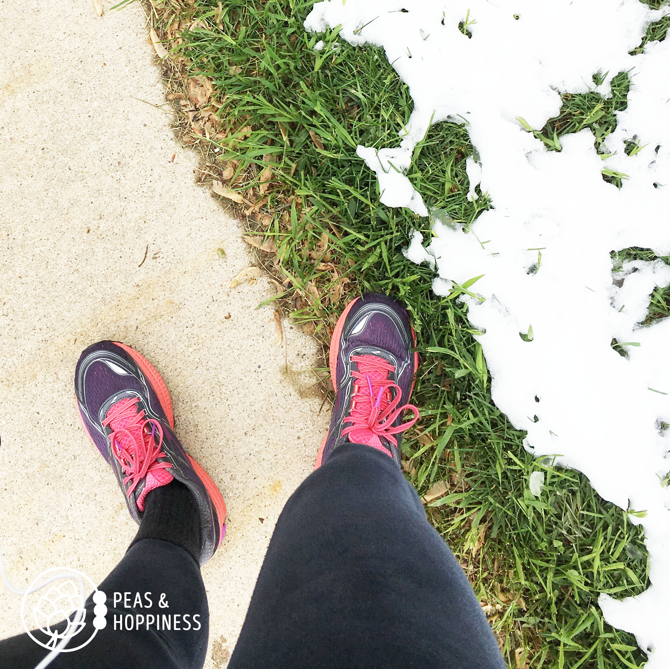 If I used snow as an excuse, I'd never go running...