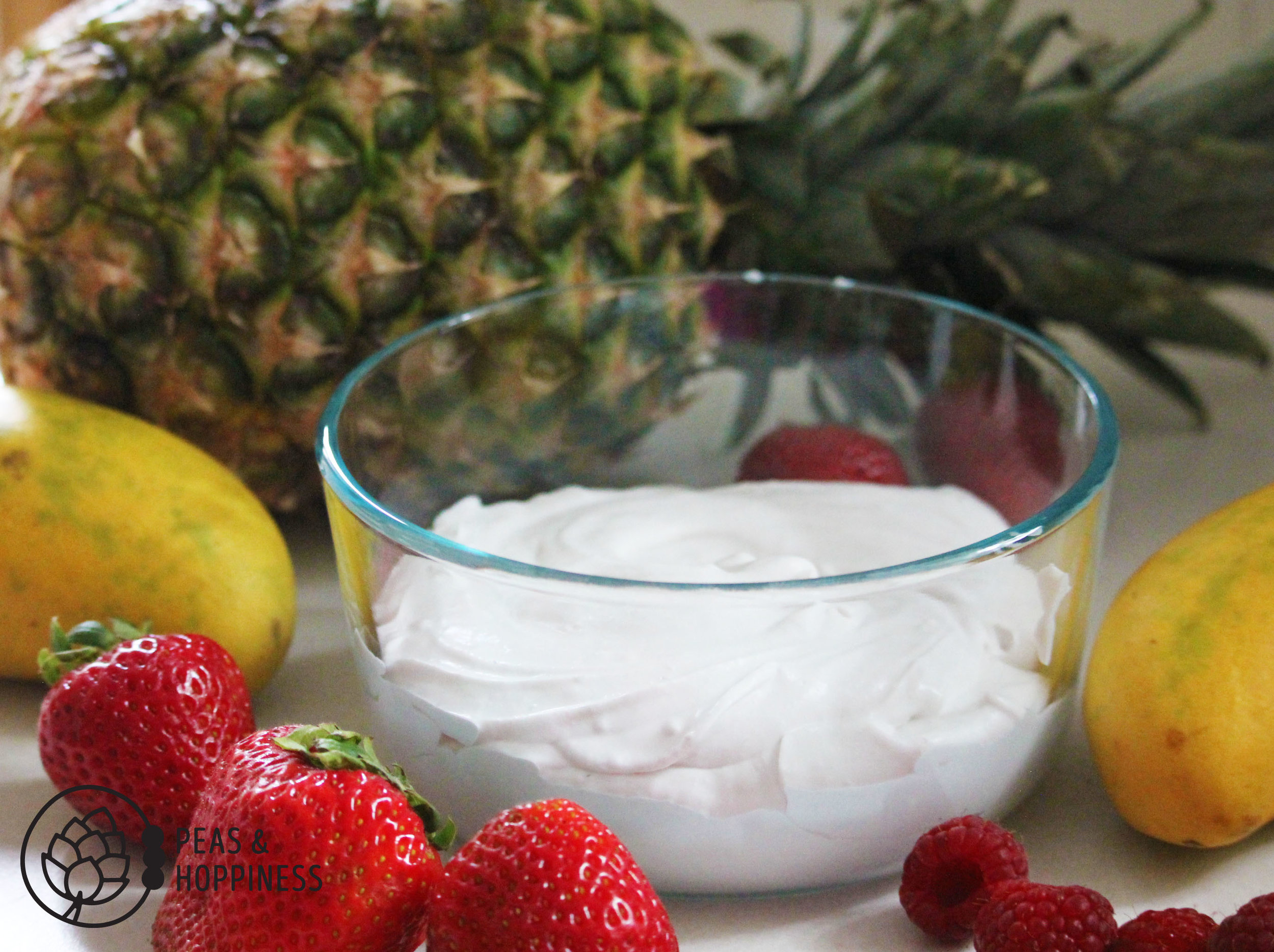 Dairy Free Pina Colada Fruit Dip from Peas and Hoppiness - www.peasandhoppiness.com