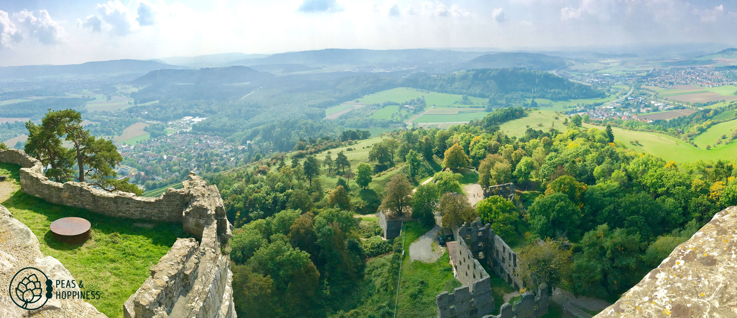 View from Hohentwiel Castle in Singen, Germany