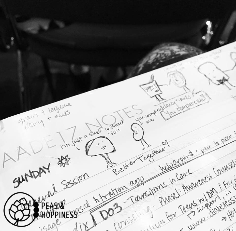 Doodling ideas & dreaming big while learning about diabetes at the annual AADE Conference