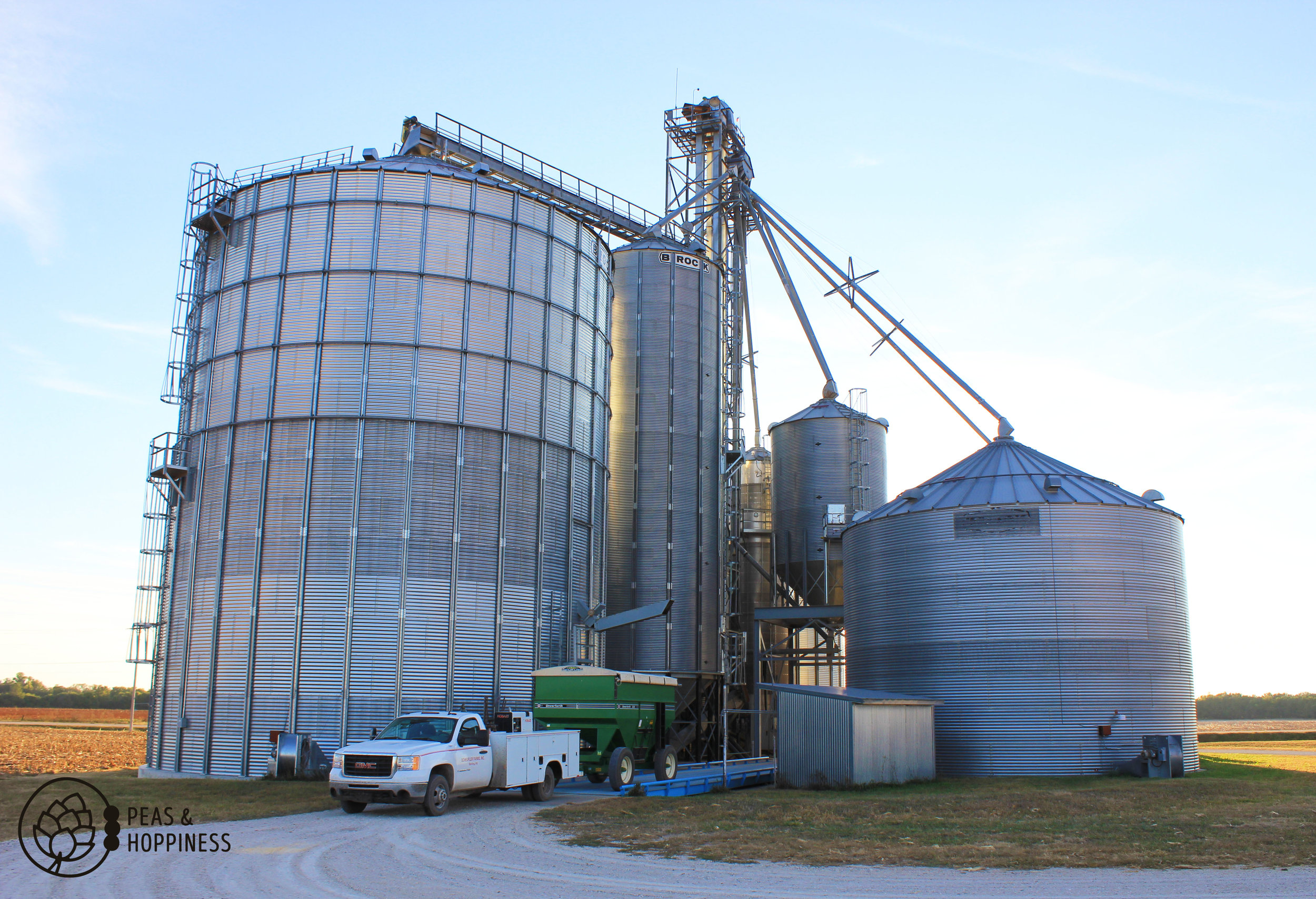 On-farm grain storage that allows quick emptying of trucks during harvest (no waiting in line!) and the ability to hold grain until prices climb in the off-season
