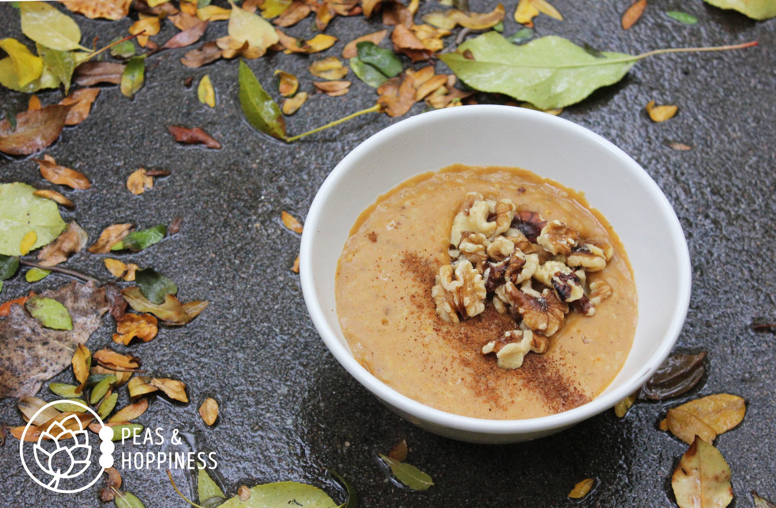 Pumpkin Porridge from Peas and Hoppiness - www.peasandhoppiness.com