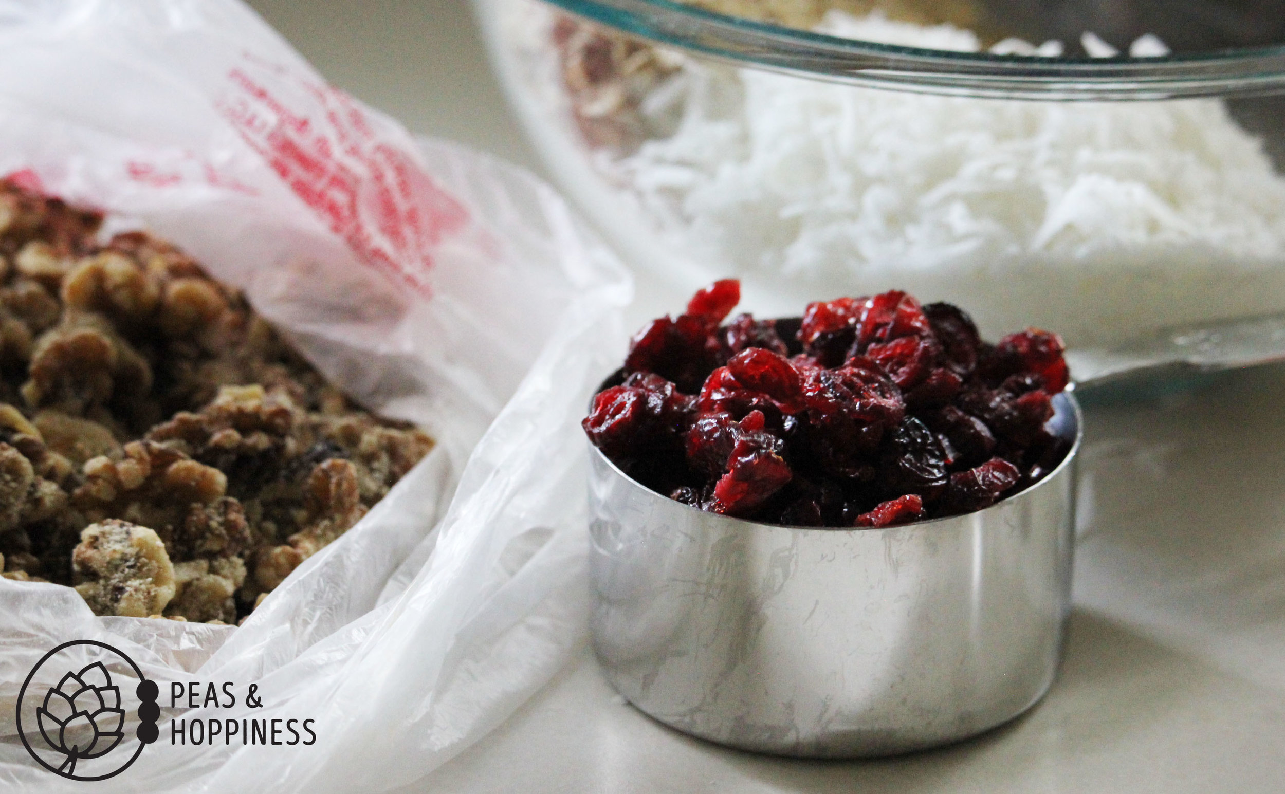 Easy Coconut Cranberry Granola from Peas and Hoppiness - www.peasandhoppiness.com