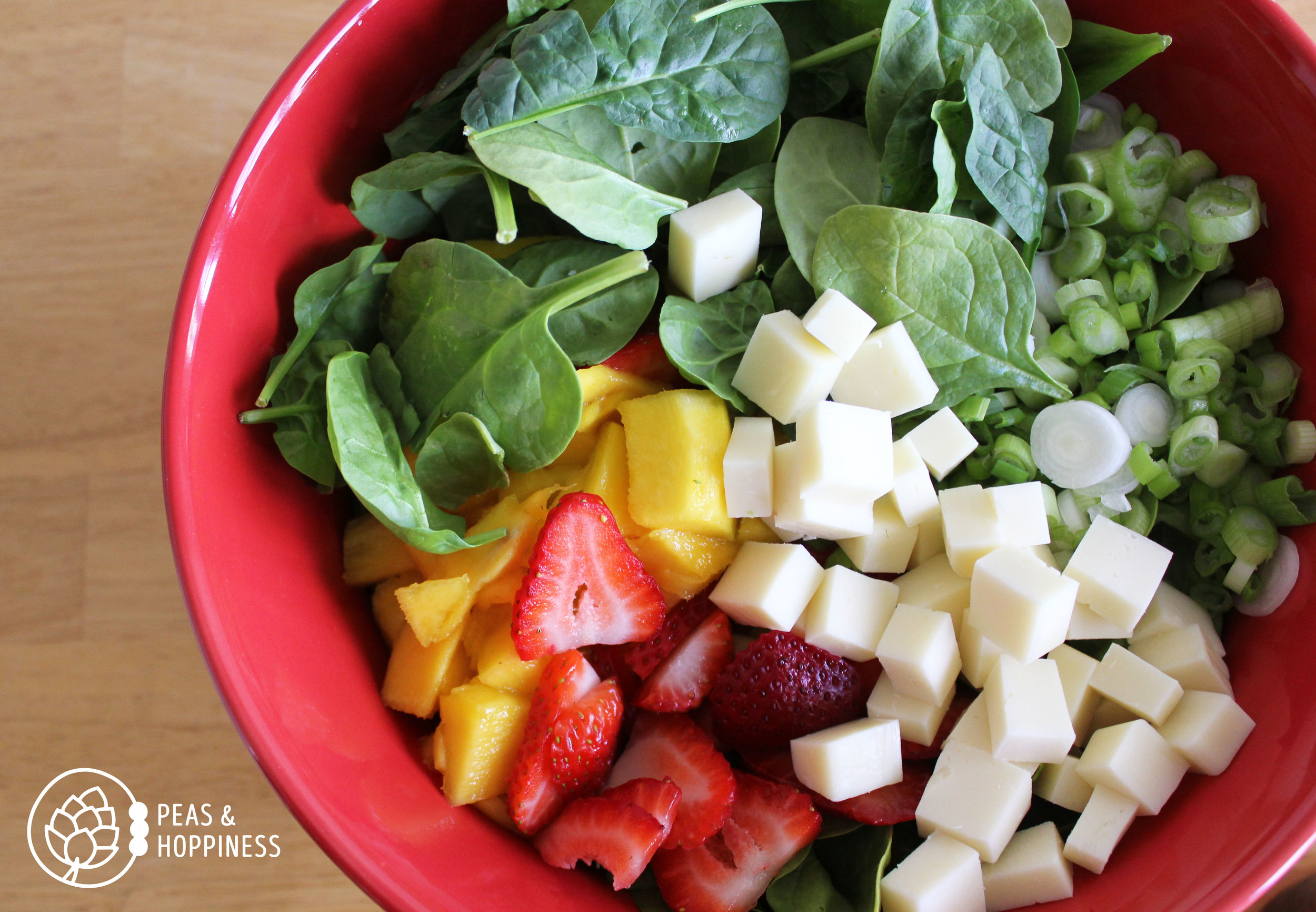 What about a vegetarian diet that includes fruits and vegetables? Is the sugar in fruit okay?  Strawberry Mango Spinach Salad