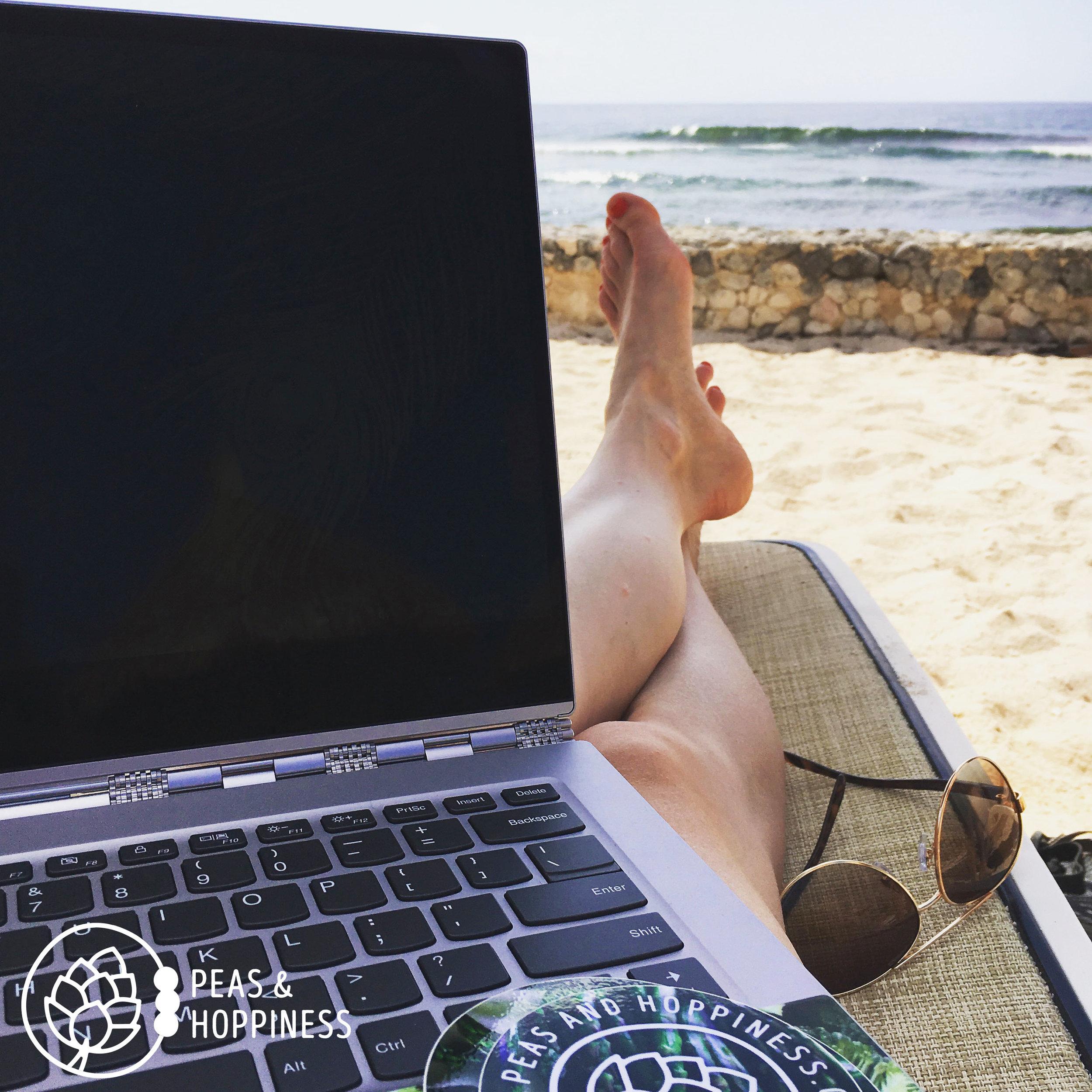 Beach-side Blogging