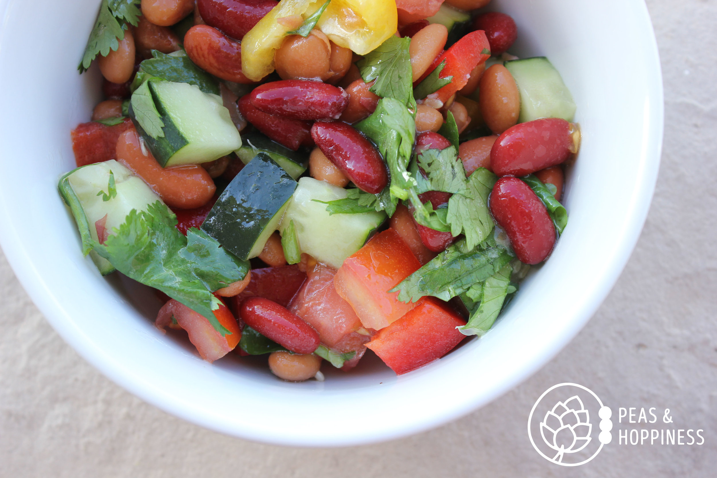 Three Bean Mexican Salad from Peas and Hoppiness - www.peasandhoppiness.com