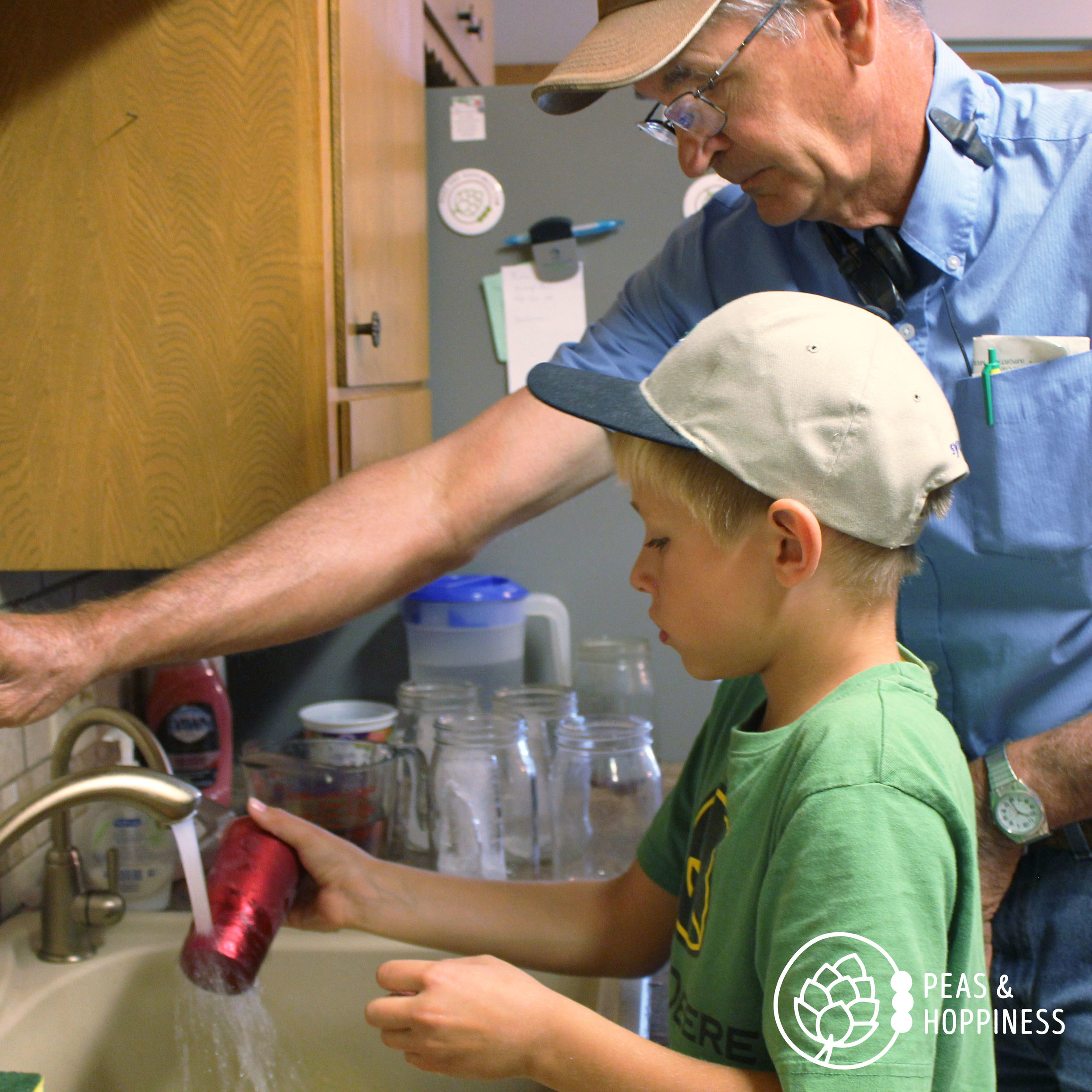Dad helps make lunches now, too