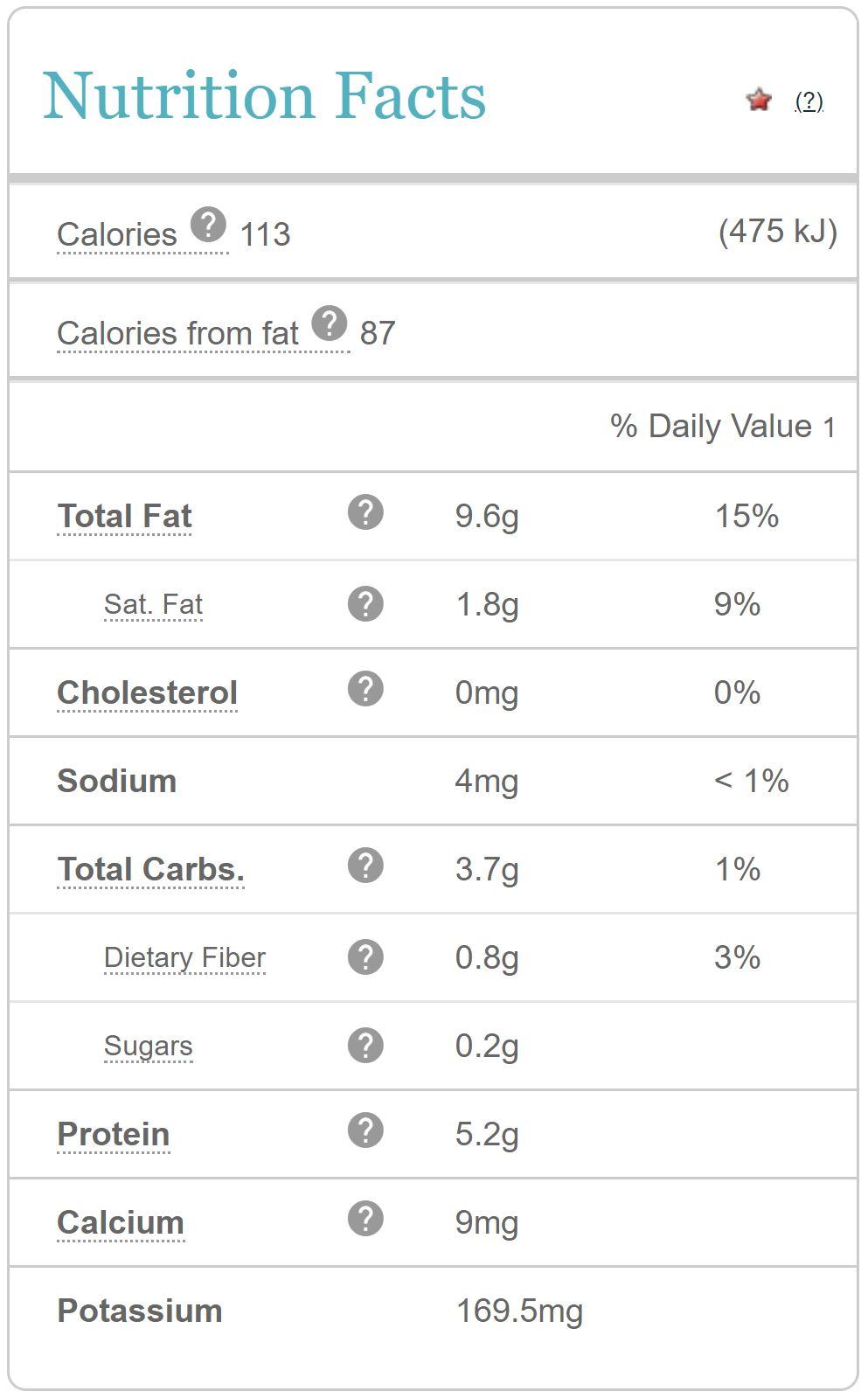 image from  www.calorieking.com