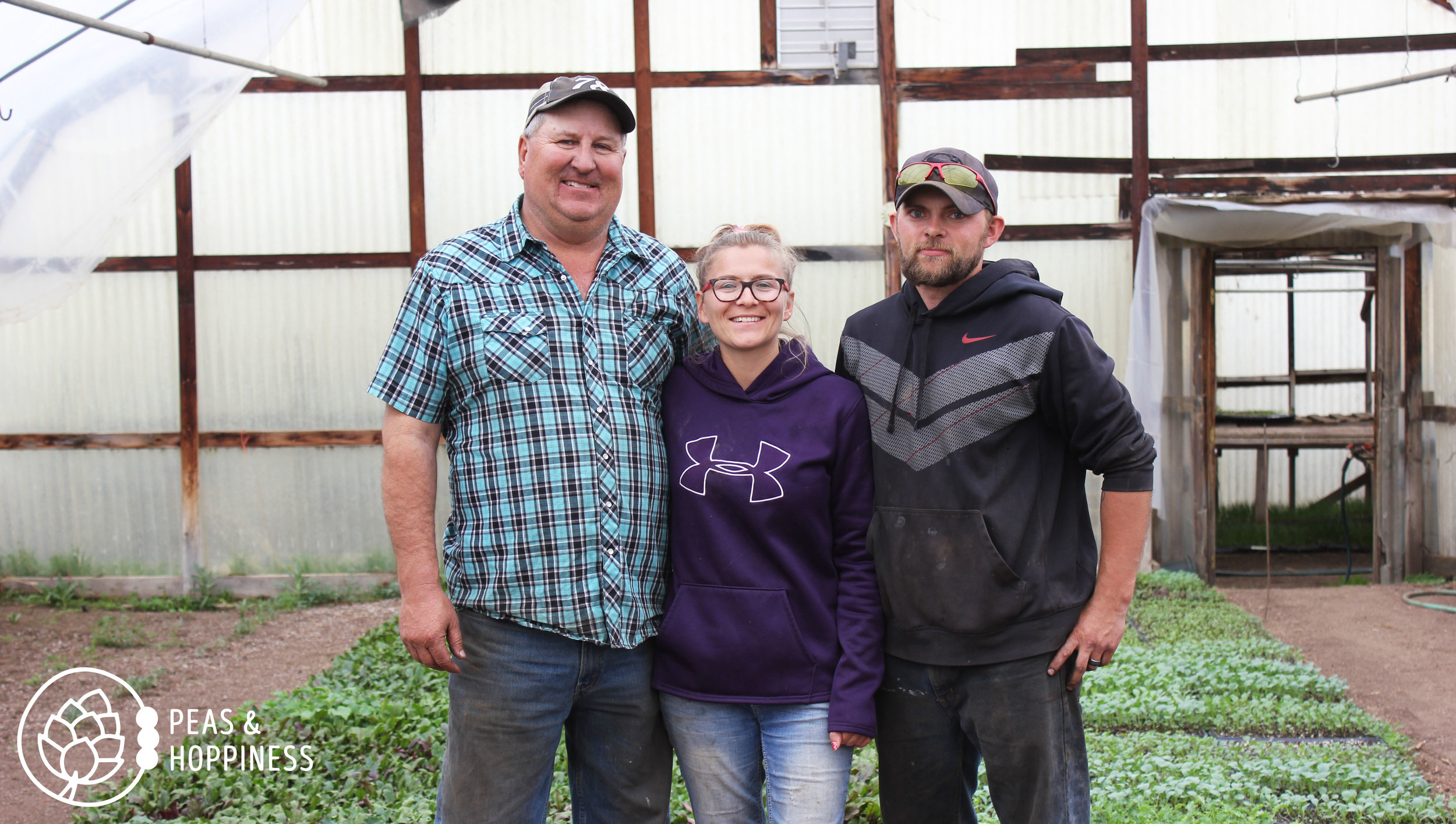Meet Joe Miller  and future farmers Shelli & Andy. Not pictured: Joe's wife and his six other children!