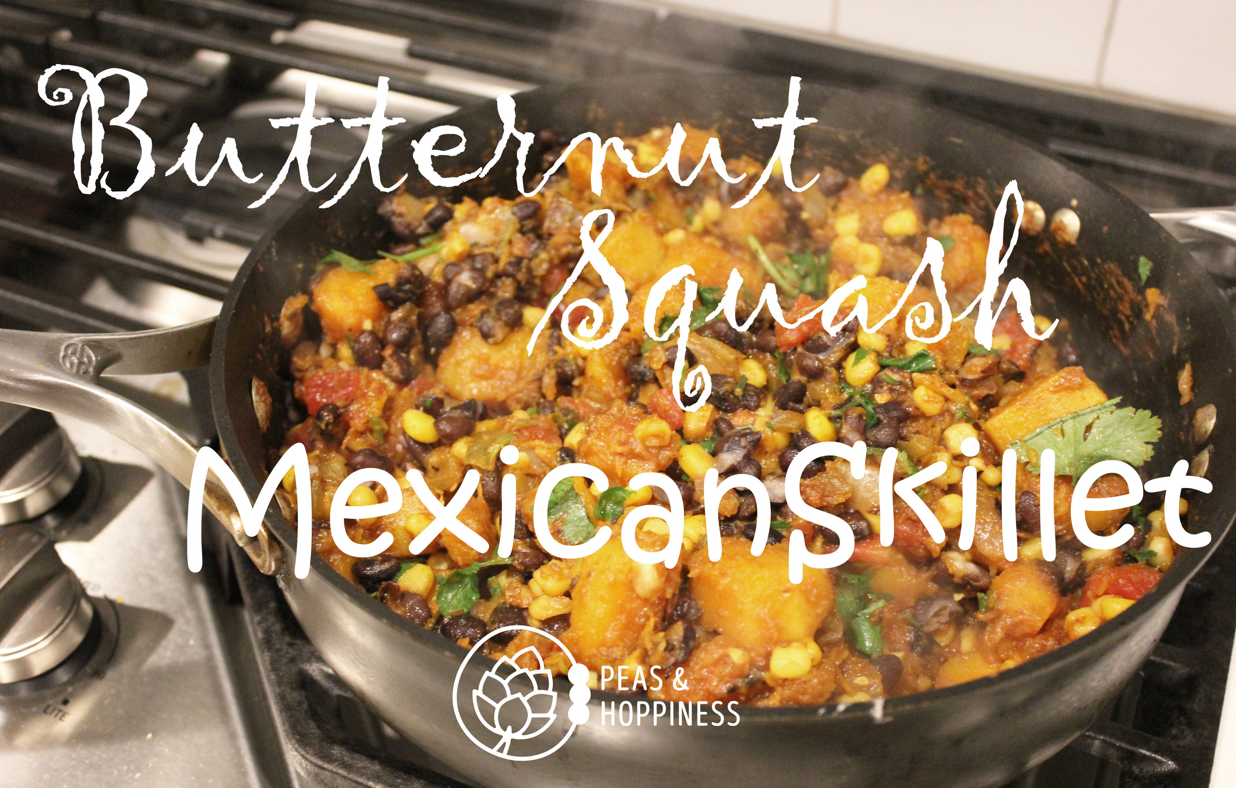 Recipe - Butternut Squash Mexican Skillet from Peas and Hoppiness - www.peasandhoppiness.com