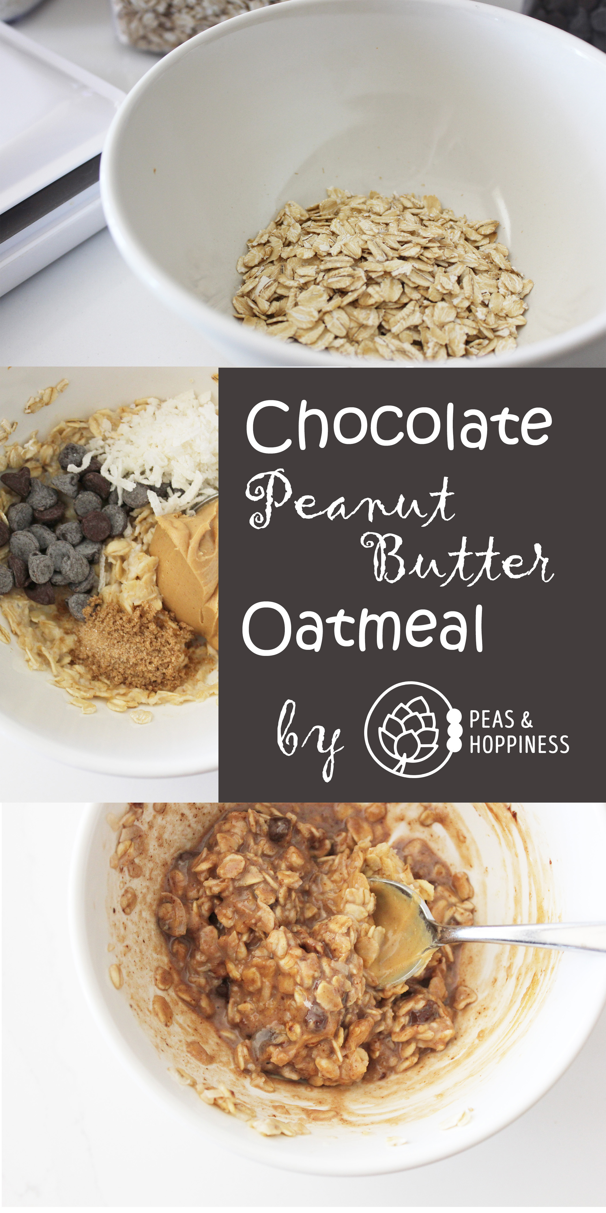 Chocolate Peanut Butter Oatmeal by Peas & Hoppiness - www.peasandhoppiness.com