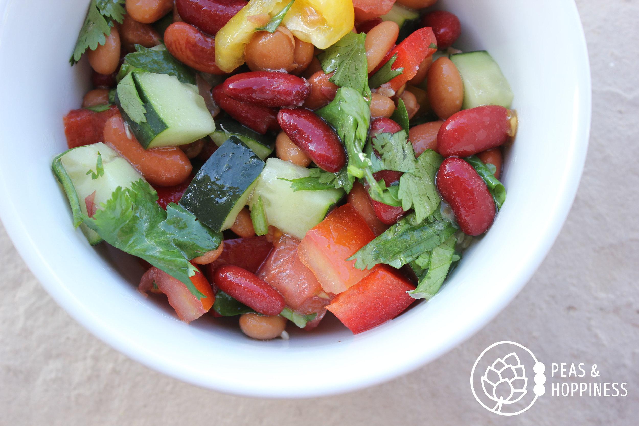 Three Bean Mexican Salad