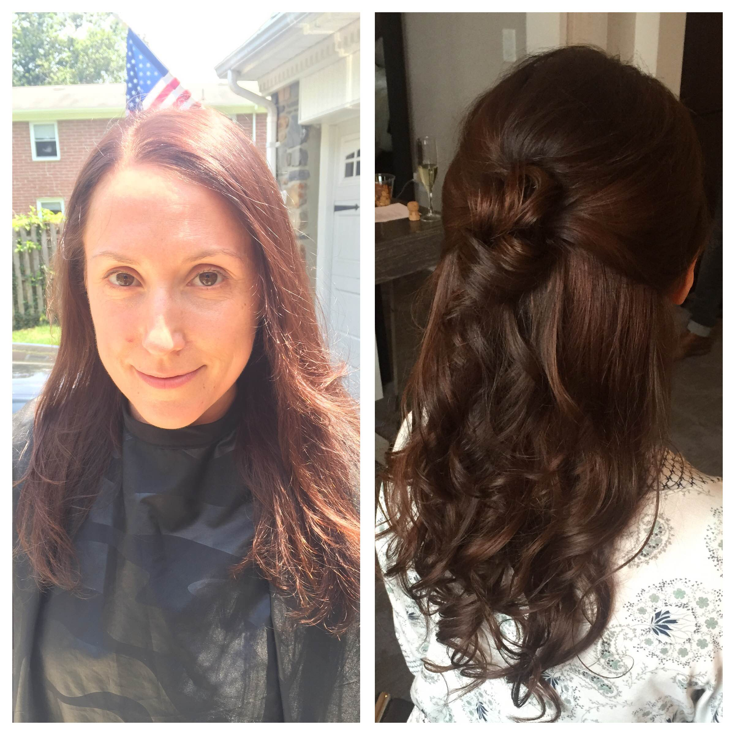custom clip-in hair extensions by Nancy Caroline