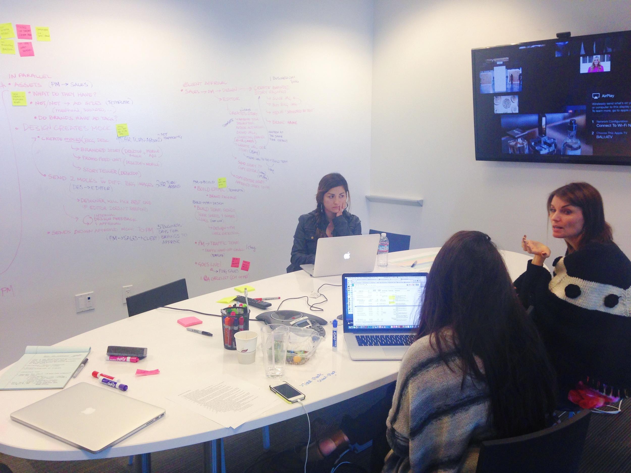 User workshop in office space.