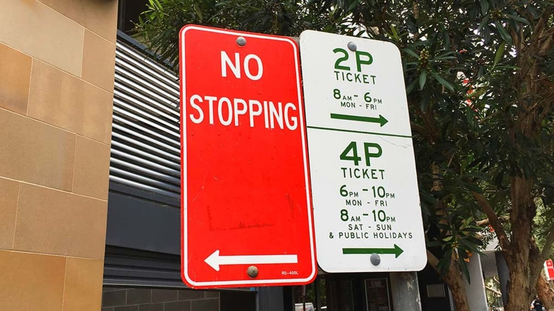 Sydney CBD Parking Sign