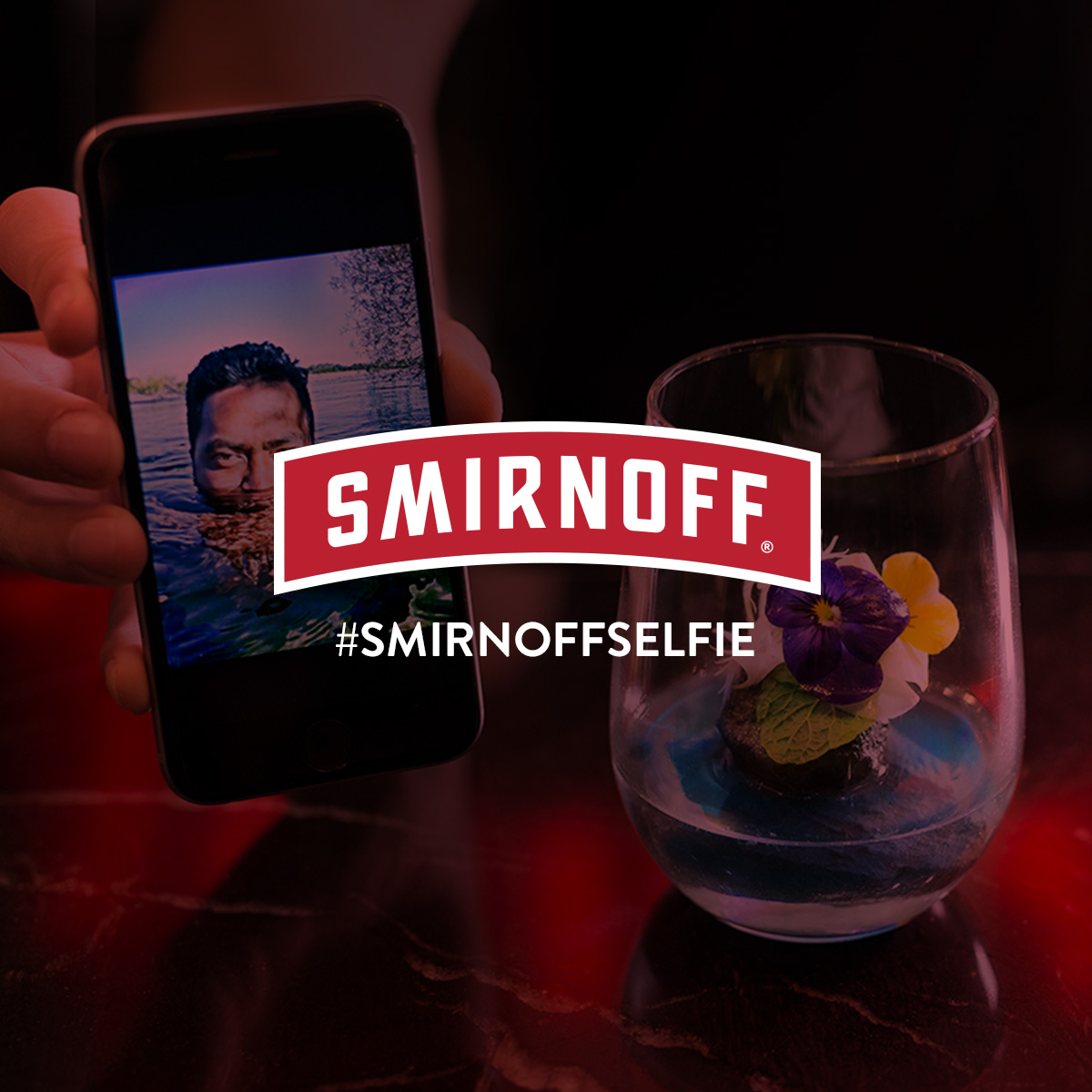 Smirnoff Selfie #purepotential   Using Facebook Live API, we'd reveal a selection of selfies to our mixologist live on Facebook and have him create a completely bespoke cocktail inspired by each photo.
