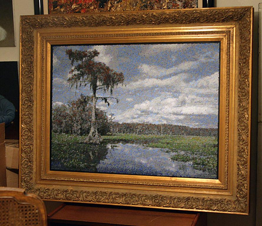 The First Matured Caddo Painting Framed-e.jpg