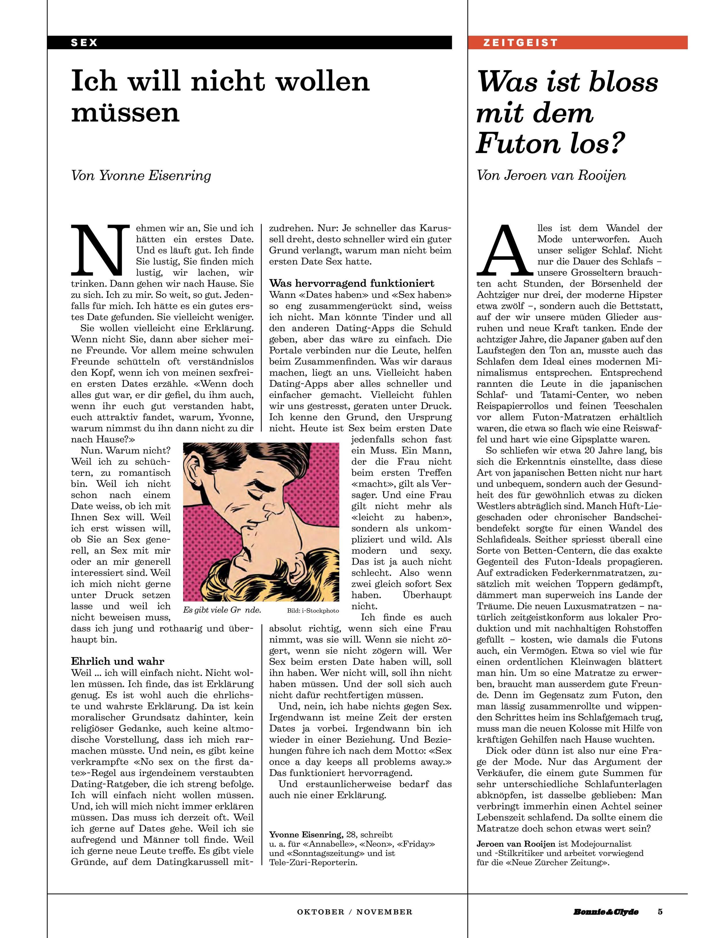 Hier das ganze Magazin bestellen: http://www.bonnie-and-clyde.com/