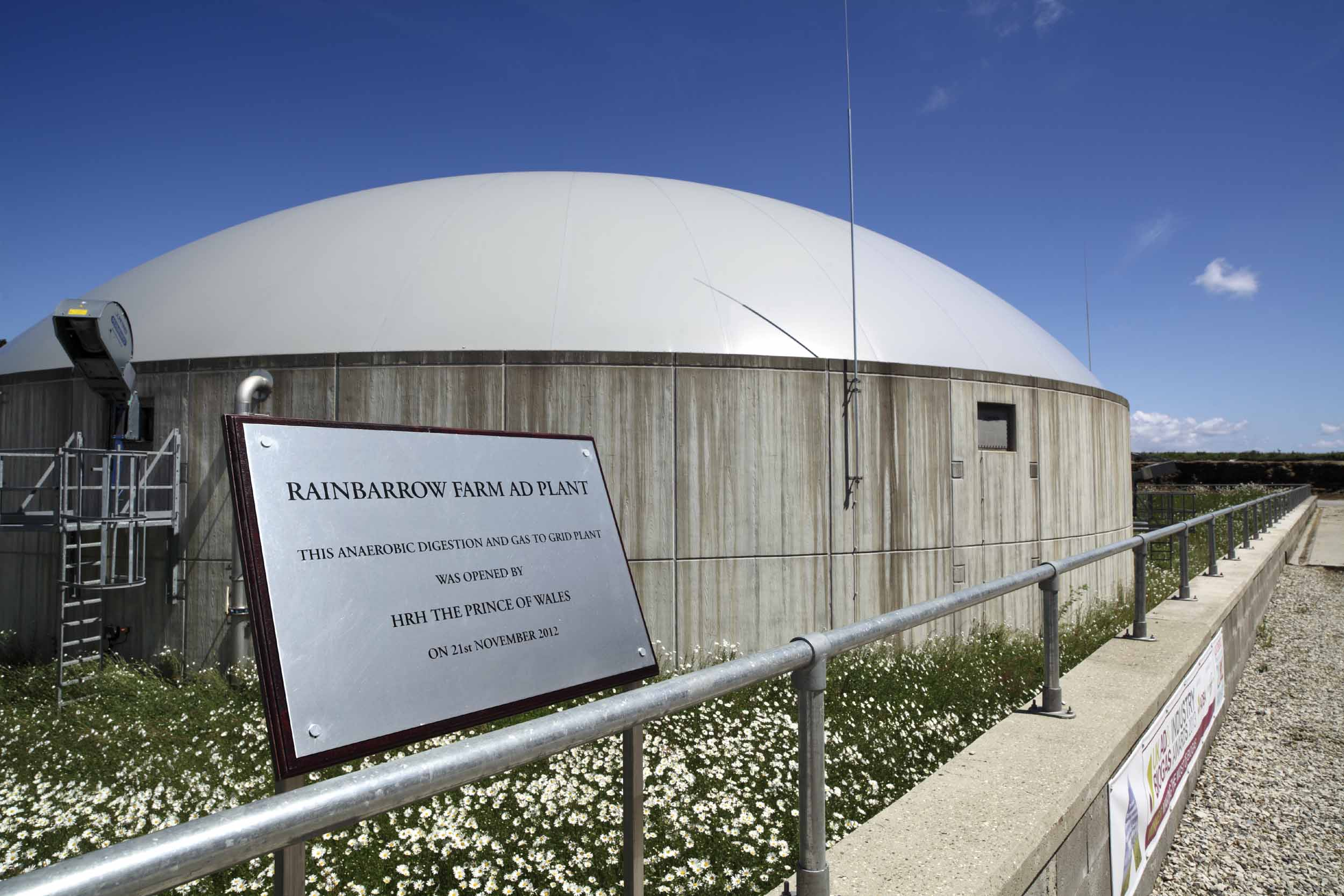 The UK's first anaerobic digestion plant to inject biomethane into the national gas network