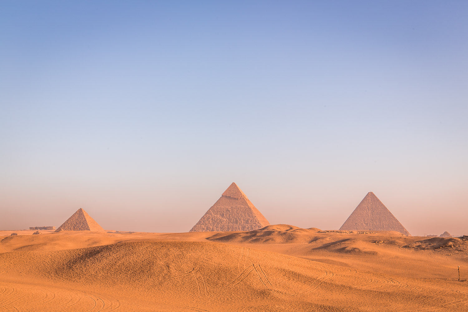 When I look at the pyramids, I feel that they exist in the past, present and future simultaneously.