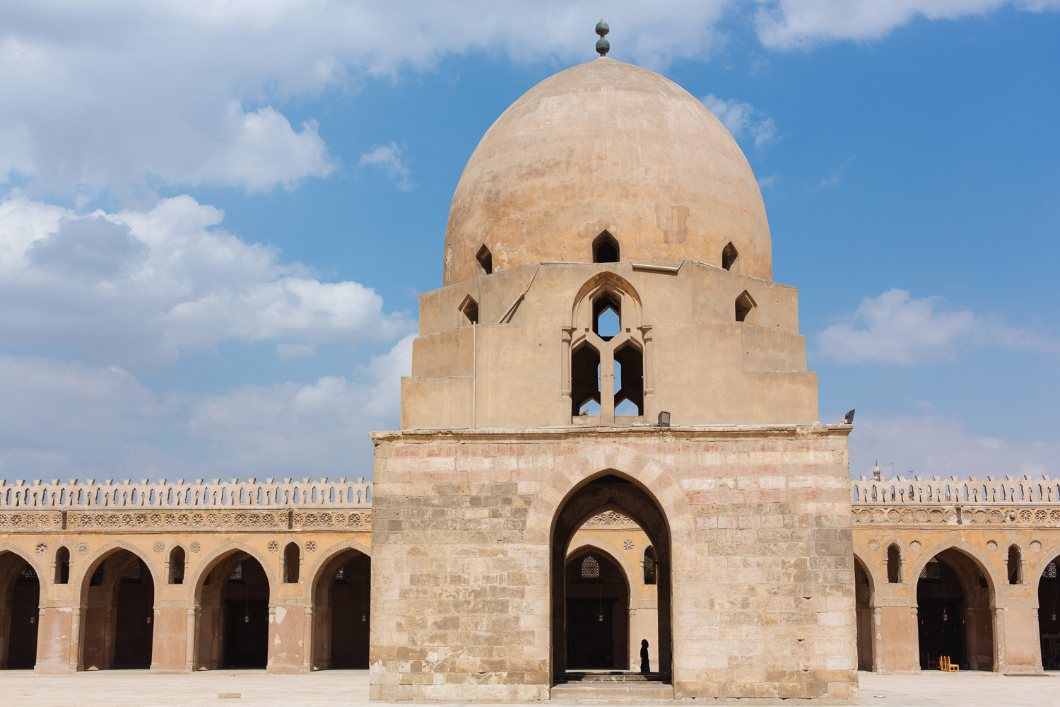 This is the Mosque of Ibn Tulun, the oldest mosque in the city.