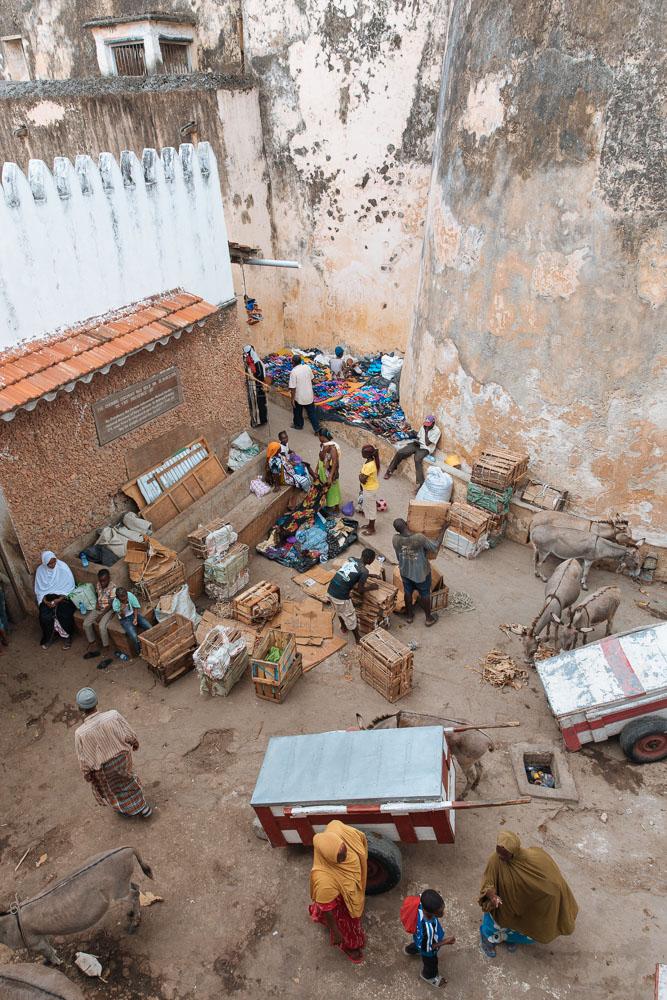 Market scene.
